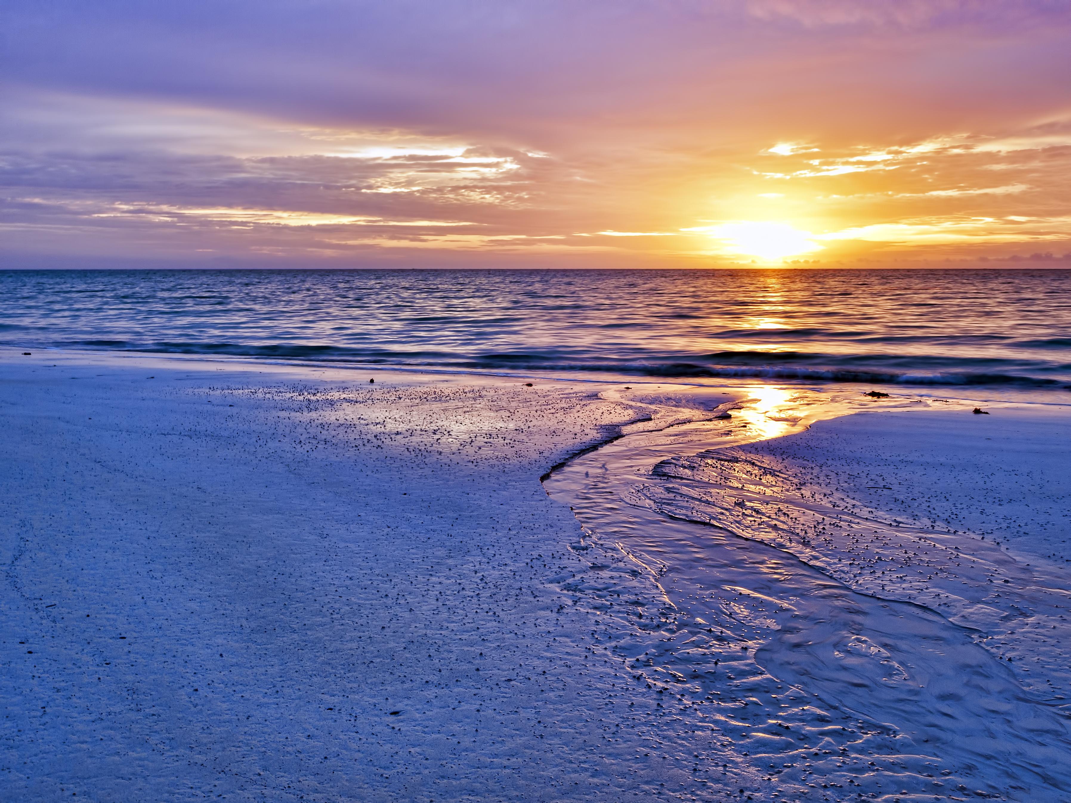141262 Hintergrundbild herunterladen Licht, Landschaft, Natur, Sunset, Sea, Ufer, Bank, Scheinen - Bildschirmschoner und Bilder kostenlos