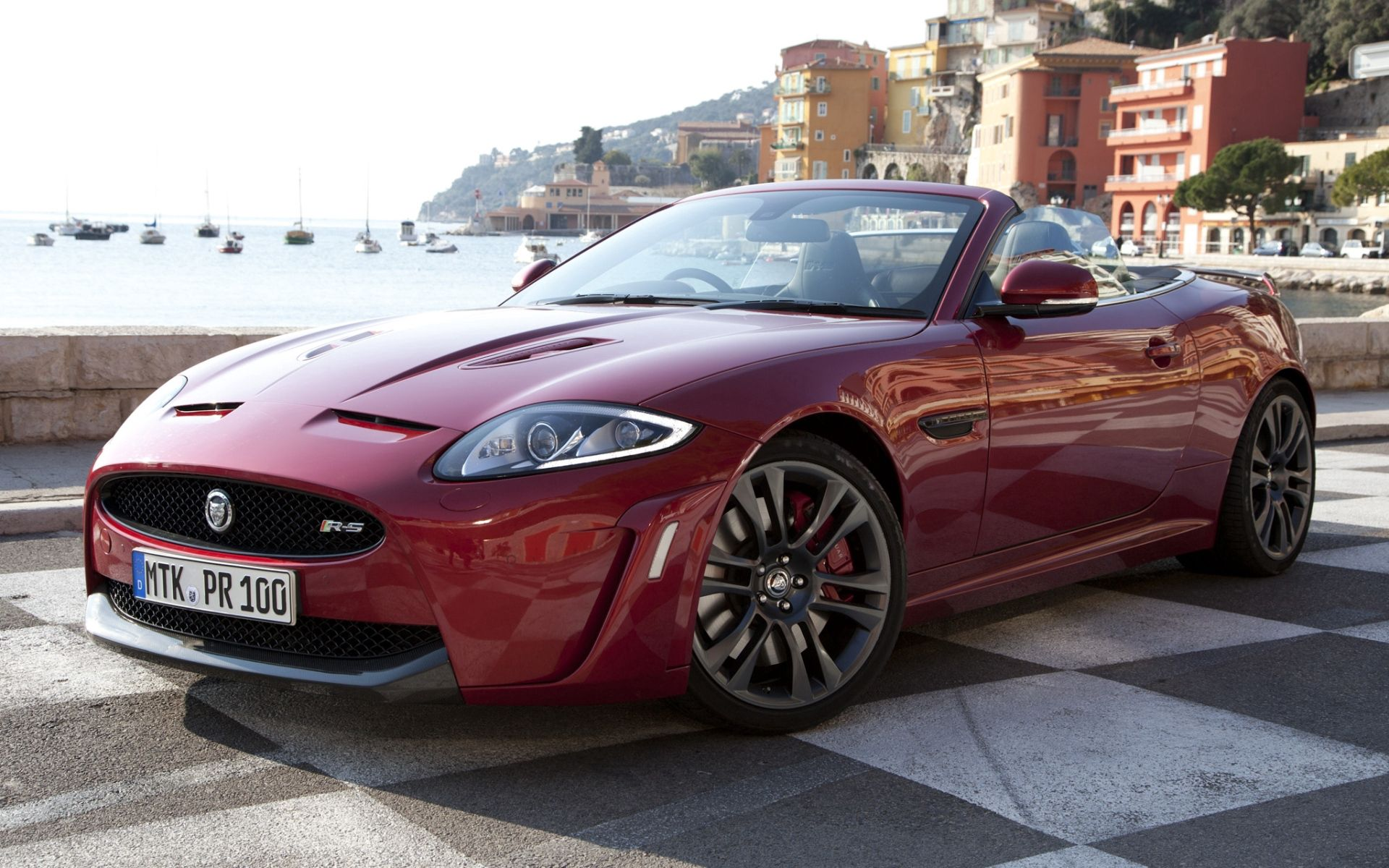 68613 download wallpaper Jaguar, Cars, Side View, Cabriolet, Xkr-S screensavers and pictures for free