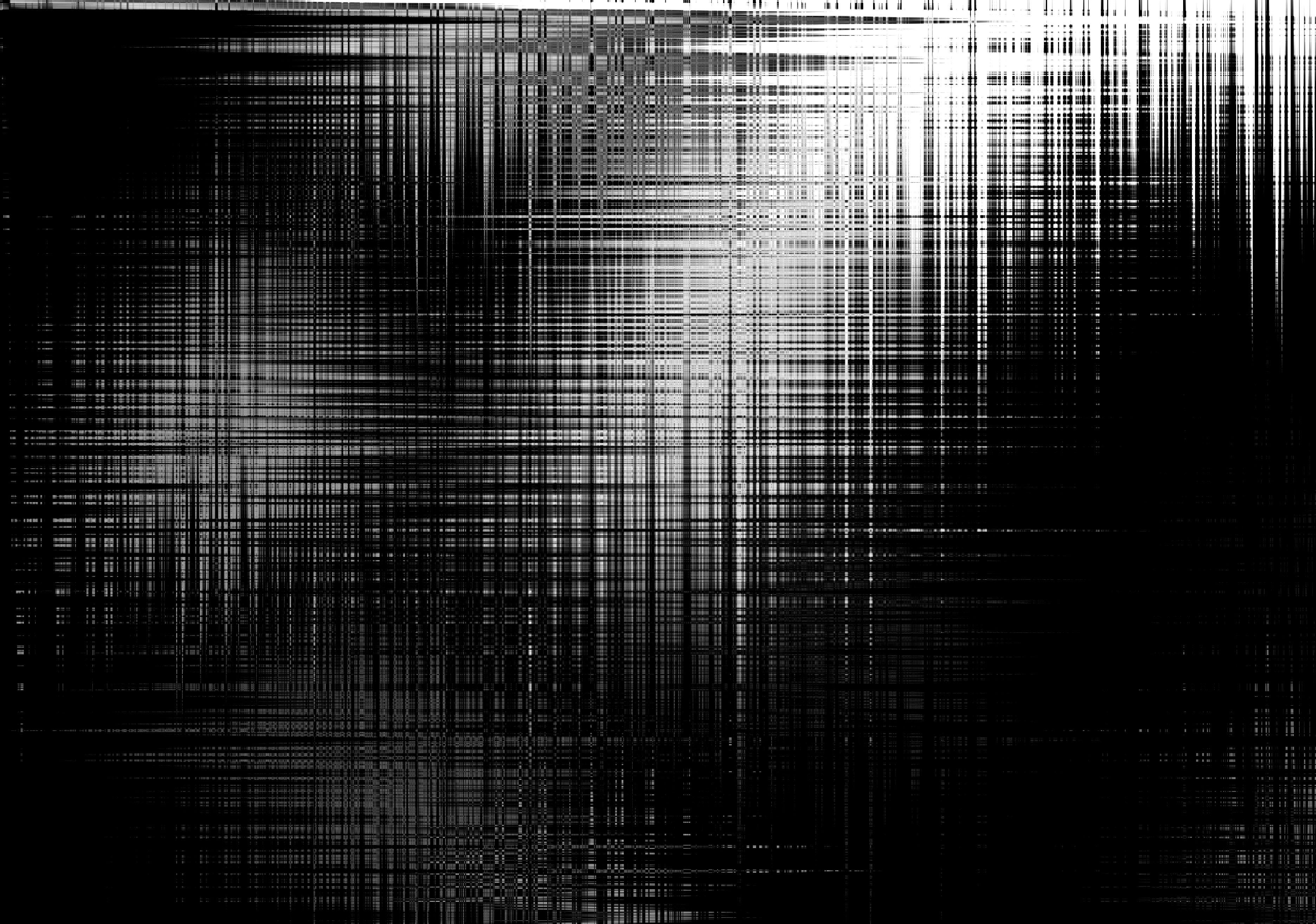 146098 Hintergrundbild herunterladen Abstrakt, Dunkel, Unschärfe, Glatt, Bw, Chb, Streifen, Panne, Glitch - Bildschirmschoner und Bilder kostenlos