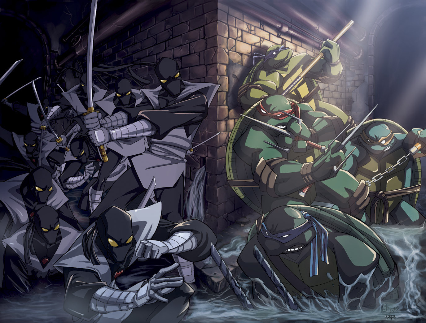 22388 download wallpaper Cartoon, Tmnt screensavers and pictures for free