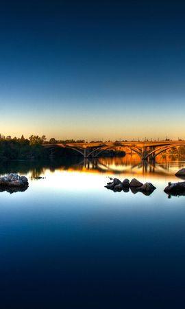 28041 скачать обои Пейзаж, Река, Мосты - заставки и картинки бесплатно