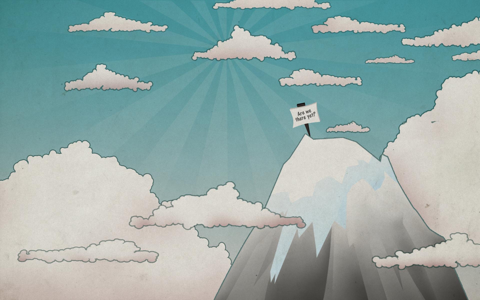11601 скачать обои Пейзаж, Небо, Горы, Облака, Рисунки - заставки и картинки бесплатно