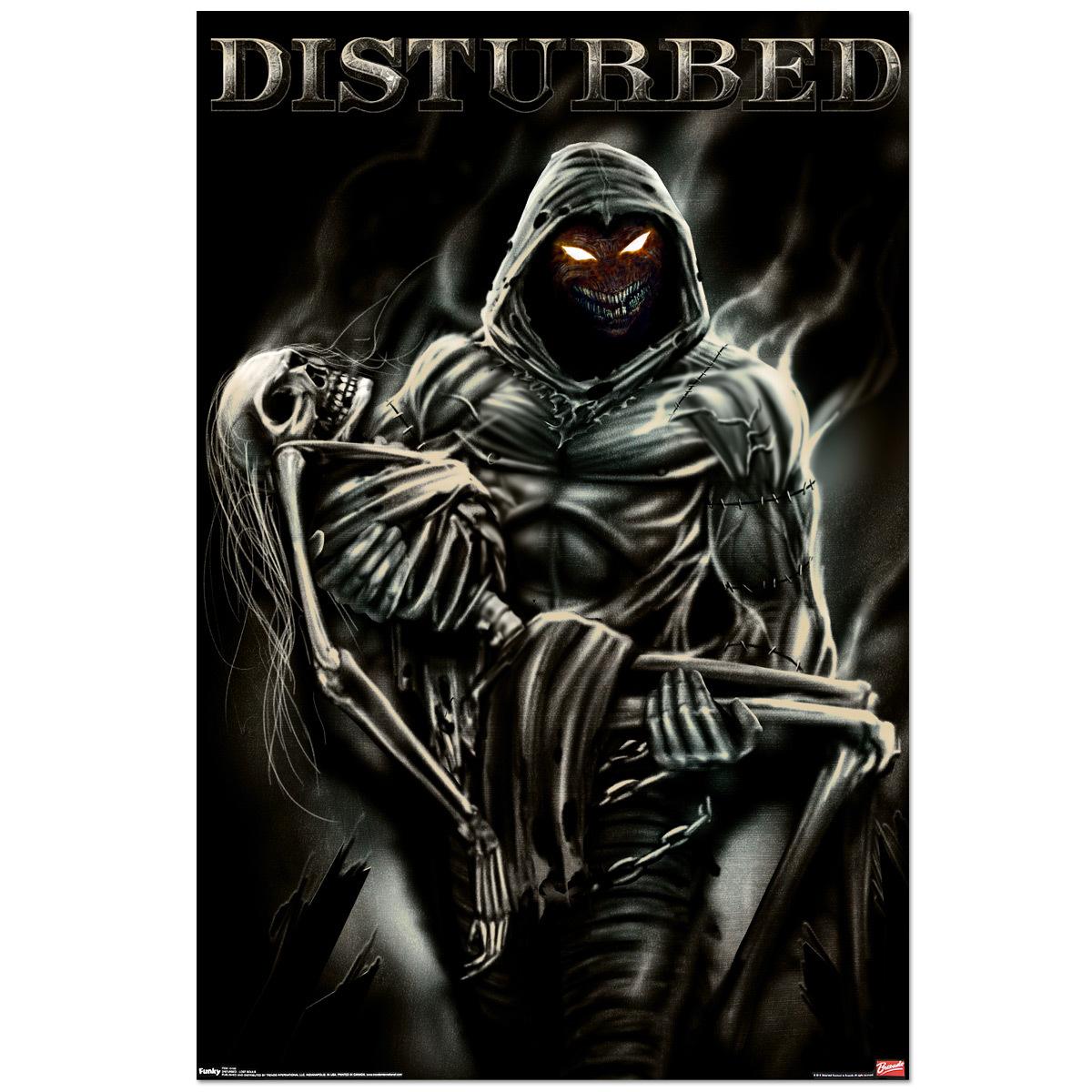 18140 обои 360x640 на телефон бесплатно, скачать картинки Смерть, Disturbed (Disturbed), Музыка, Фон 360x640 на мобильный