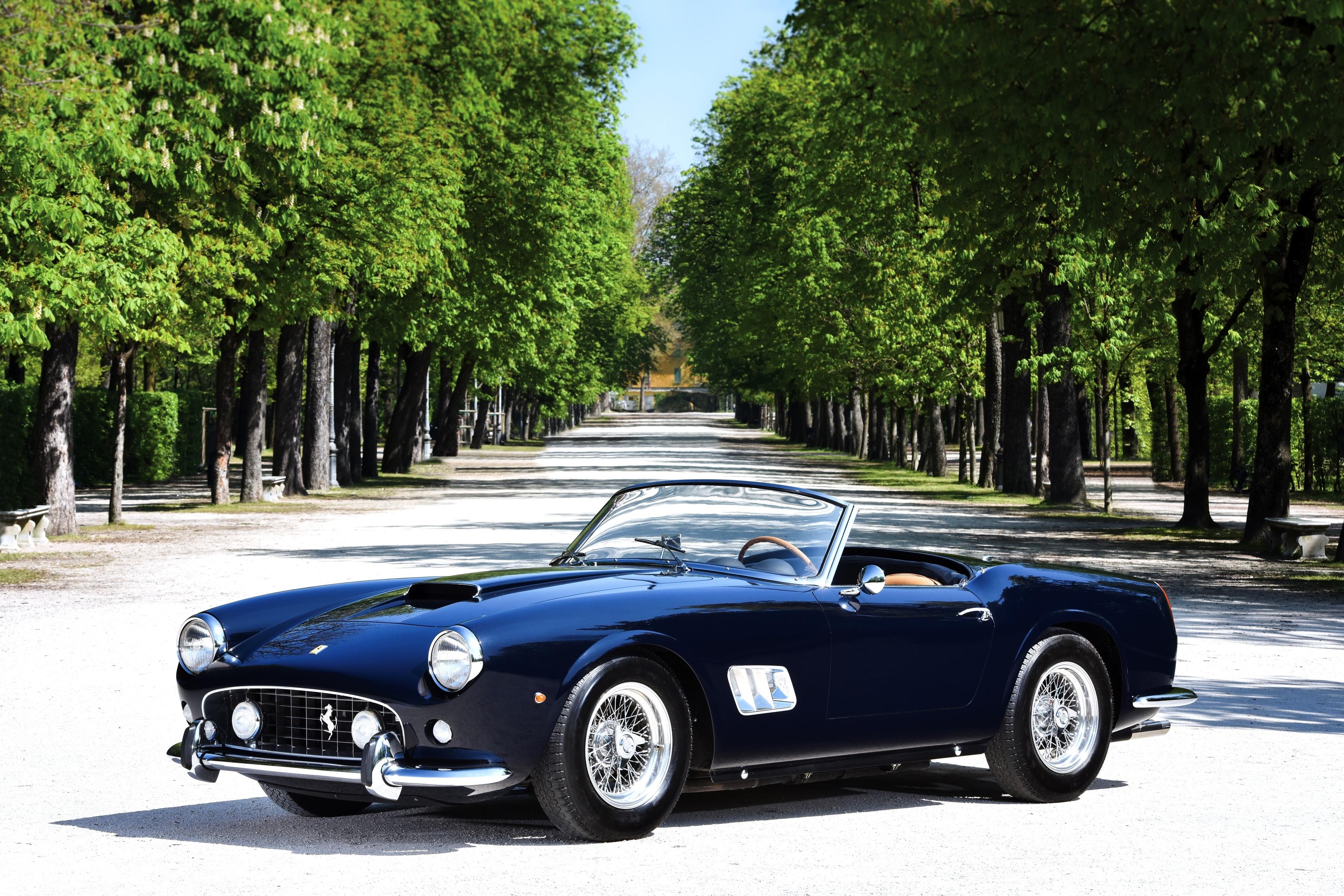 126807 papel de parede 720x1280 em seu telefone gratuitamente, baixe imagens Ferrari, Carros, O Preto, Cabriolet, Cabriolé, 250 Gt 720x1280 em seu celular