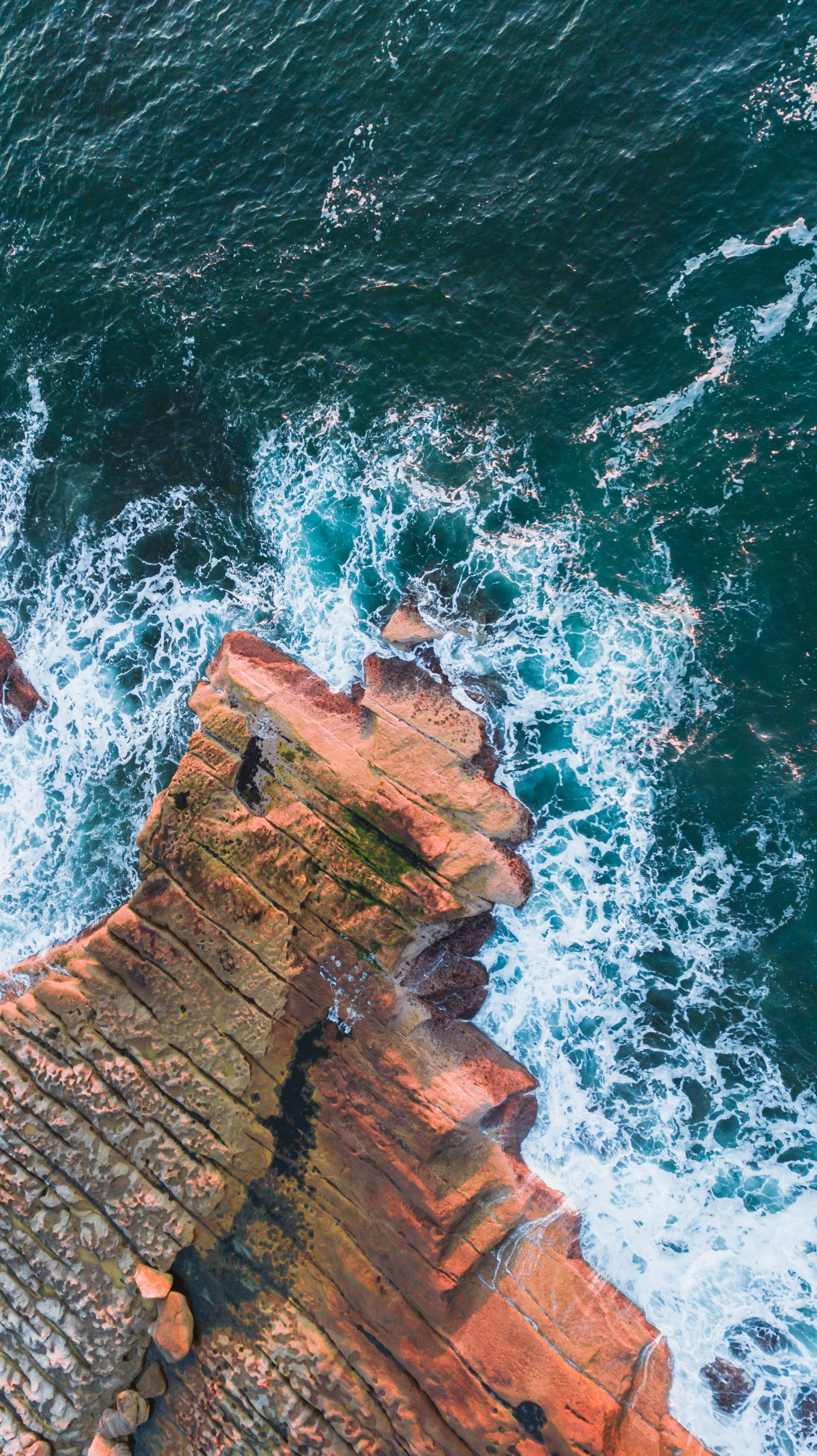 152081 download wallpaper Nature, Sea, Rocks, View From Above, Surf screensavers and pictures for free