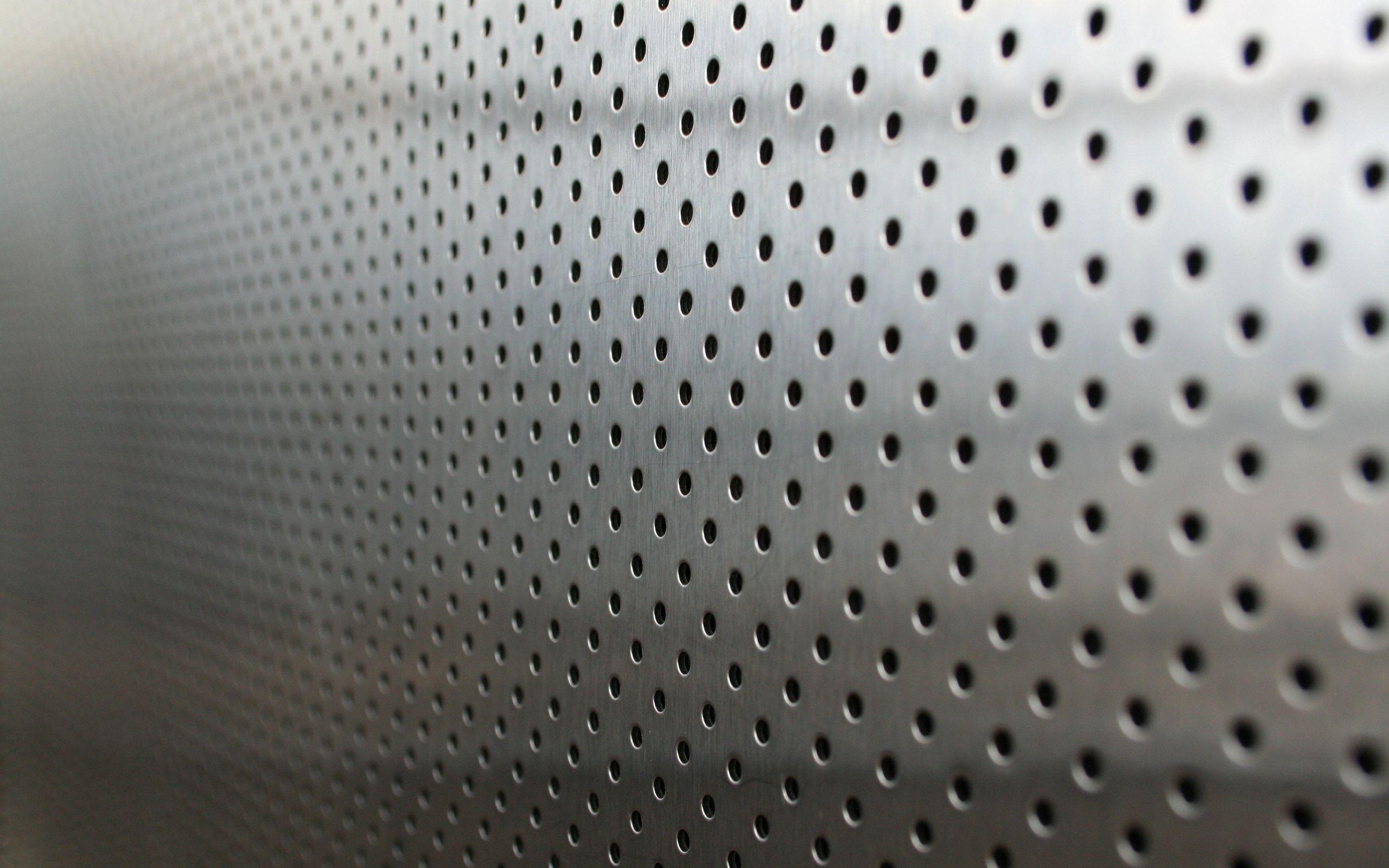 103431 Protetores de tela e papéis de parede Metal em seu telefone. Baixe Fundo, Textura, Texturas, Pontos, Ponto, Metal, Prata, Buracos fotos gratuitamente