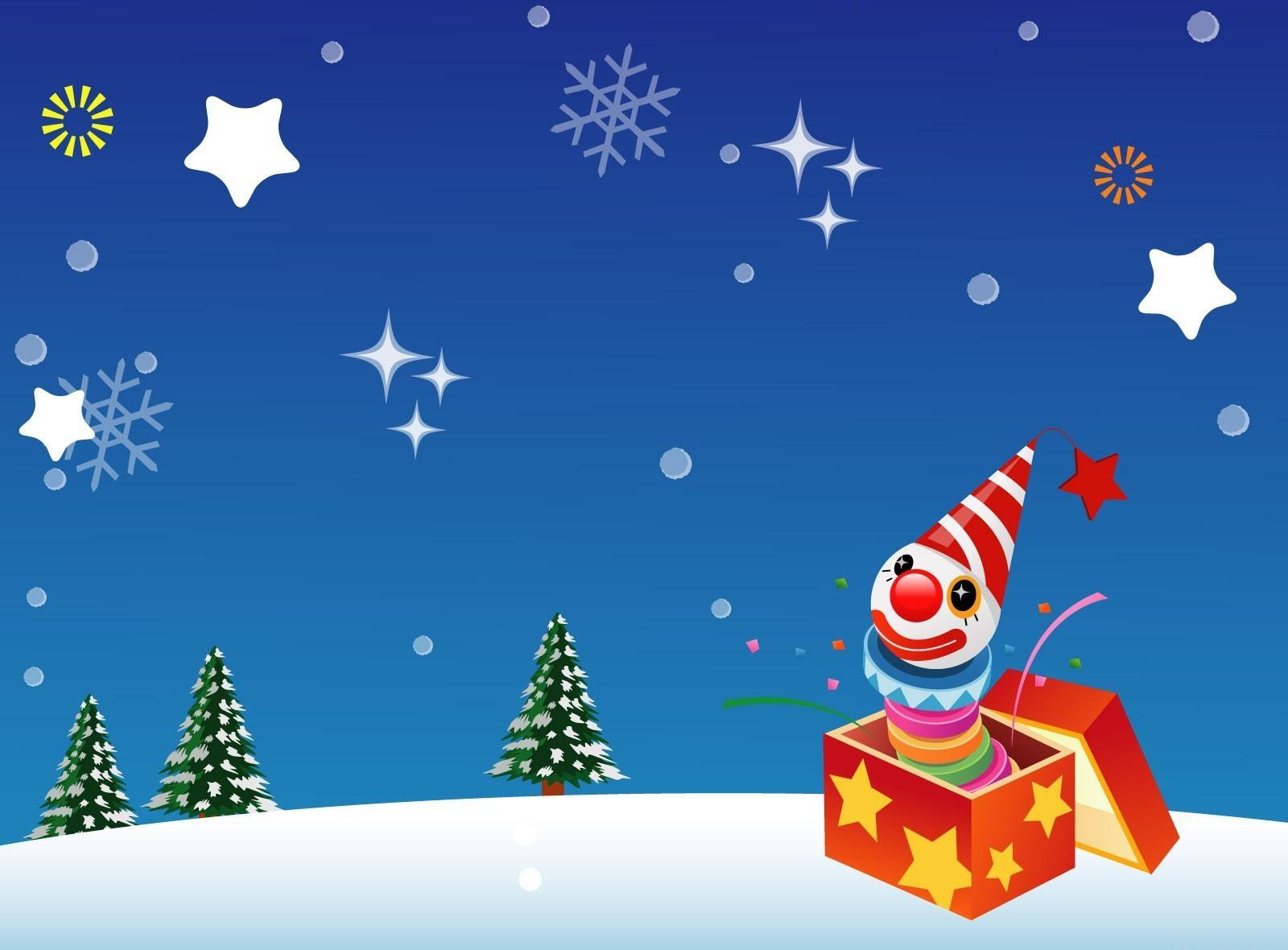 65416 免費下載壁紙 假期, 小丑, 展示, 礼品, 假日, 星级, 枞树 屏保和圖片
