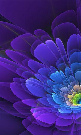 109576 baixar papel de parede Abstrato, Roxo, Violeta, Flor, Fractal - protetores de tela e imagens gratuitamente