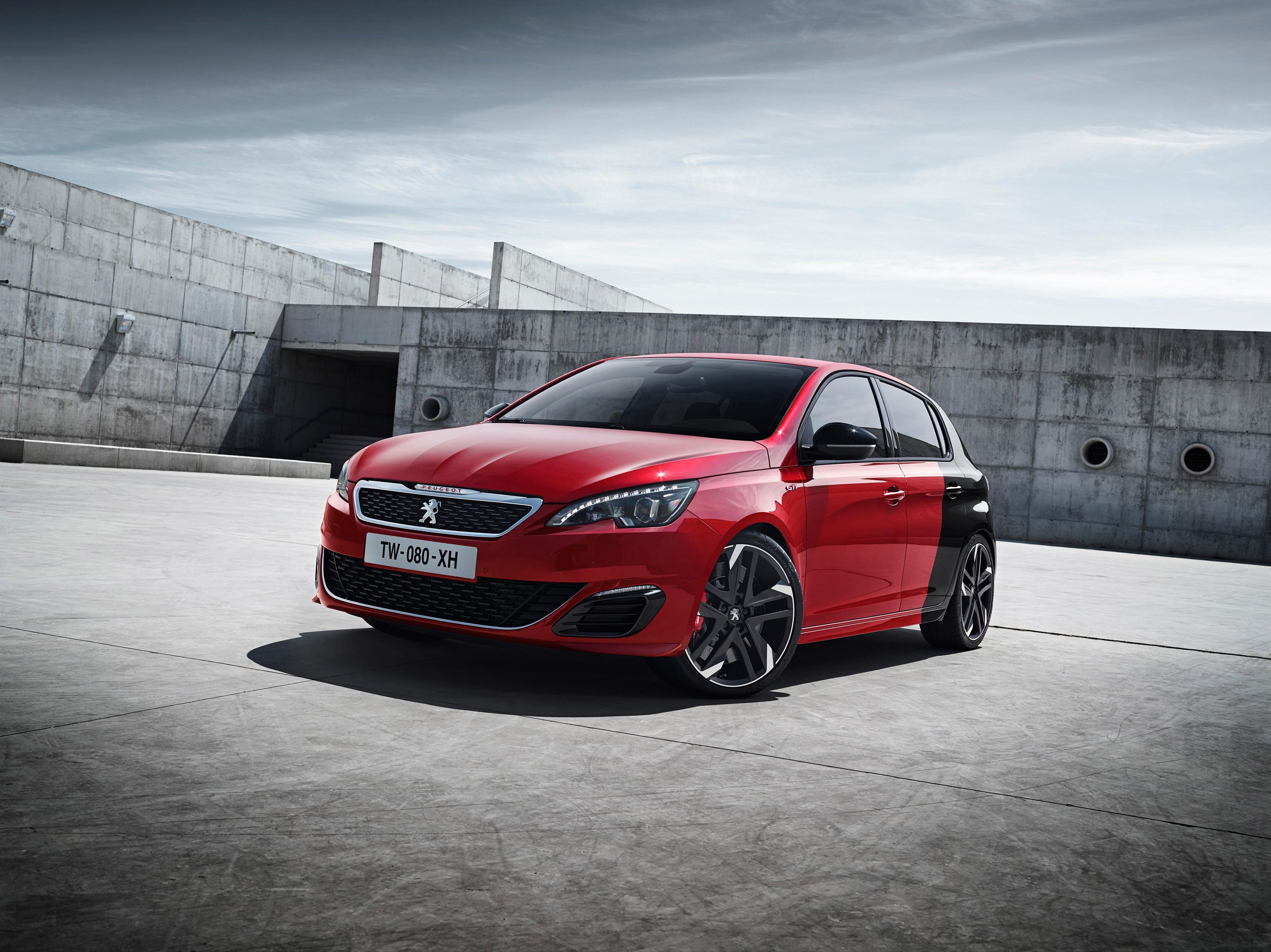 70926 скачать обои Пежо (Peugeot), Тачки (Cars), Красный, Вид Сбоку, 308, Gti - заставки и картинки бесплатно