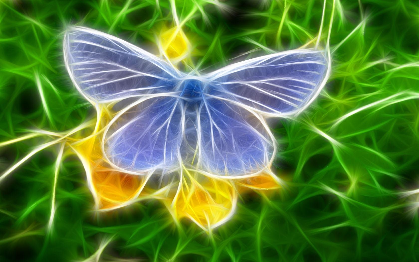 10133 скачать обои Бабочки, Насекомые, Арт, Рисунки - заставки и картинки бесплатно