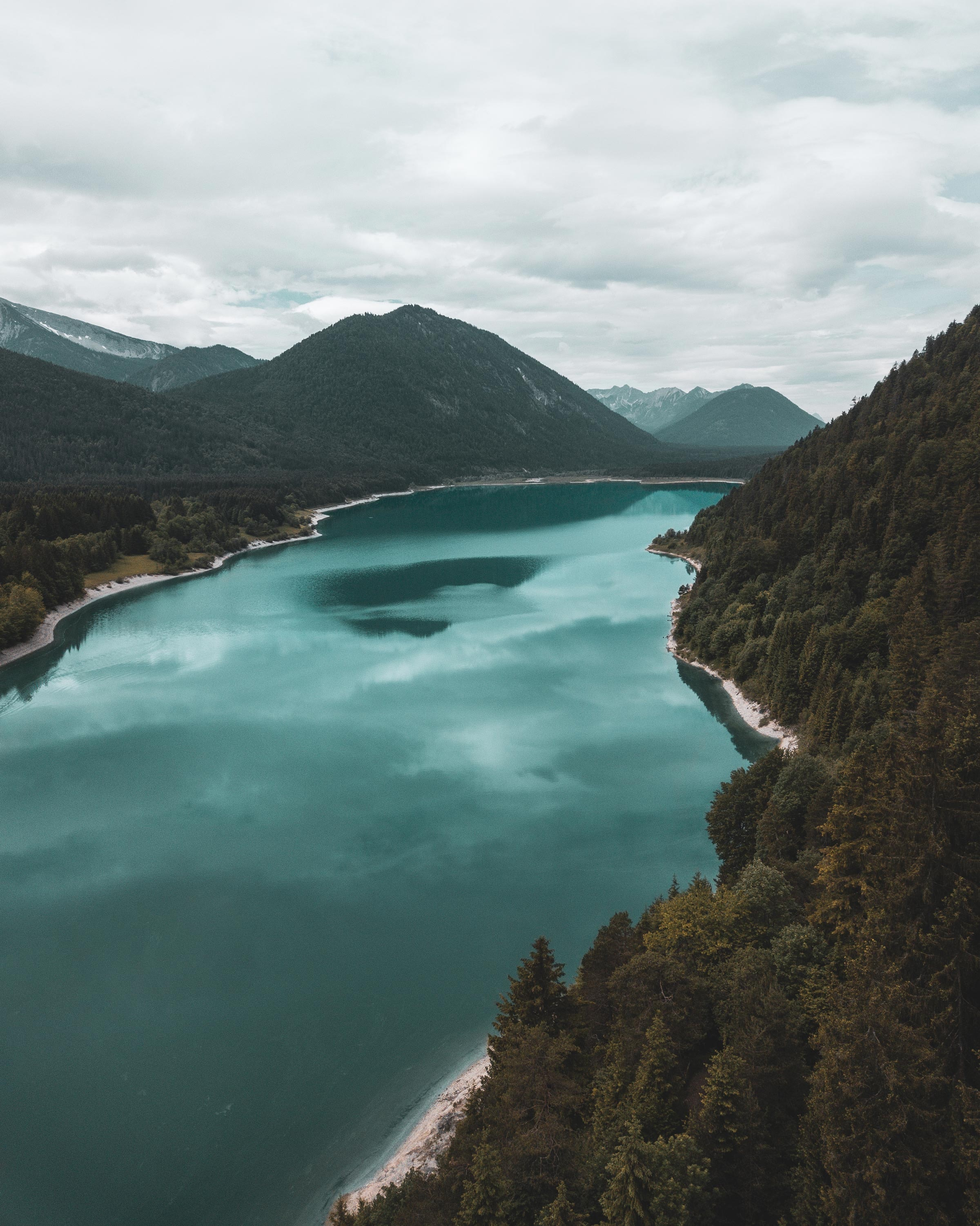 86822 free wallpaper 1440x2560 for phone, download images Landscape, Nature, Trees, Mountains, View From Above, Lake 1440x2560 for mobile