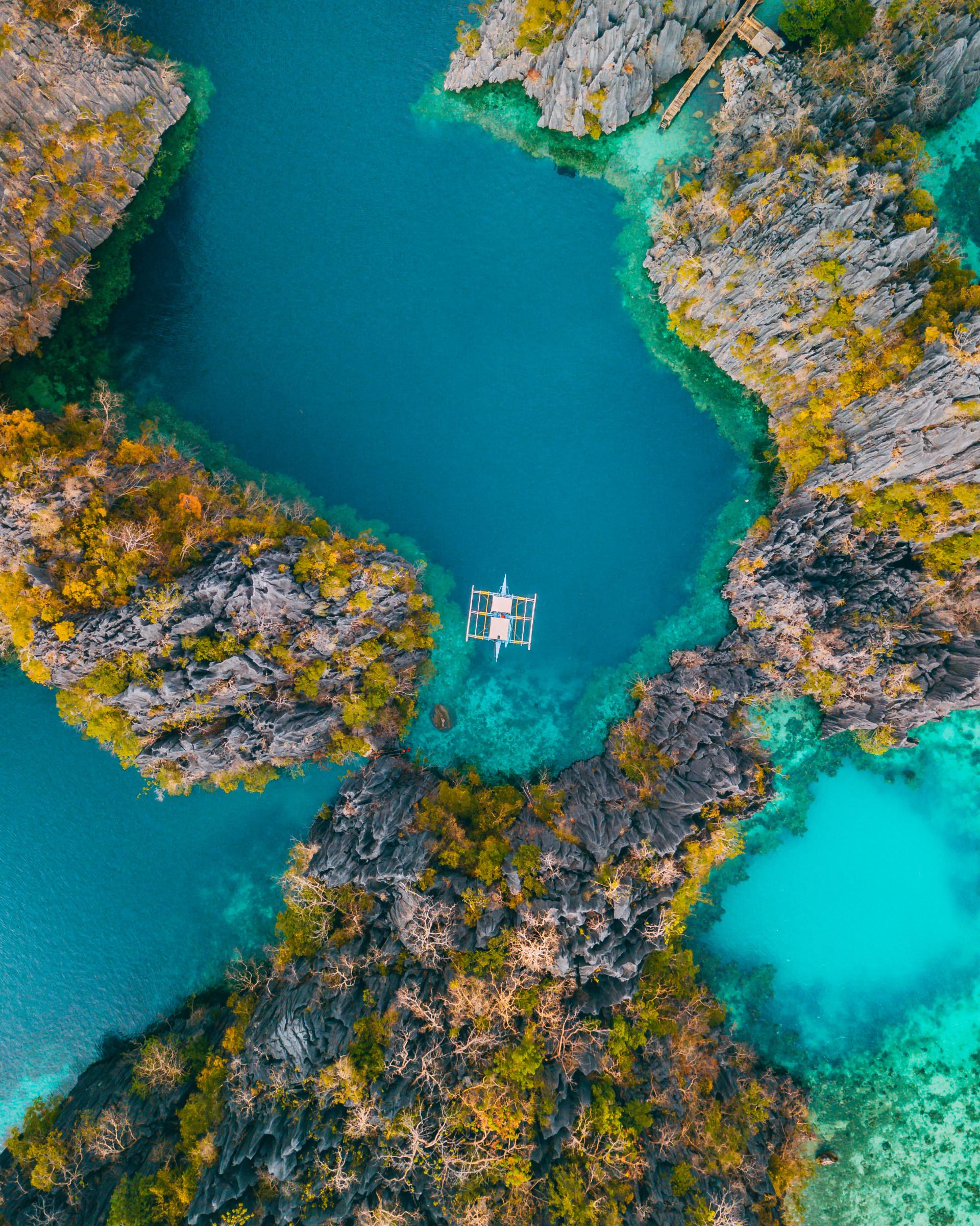 62560 免費下載壁紙 性质, 海, 湾, 海湾, 从上面看, 顶视图, 石头, 岩石, 水 屏保和圖片