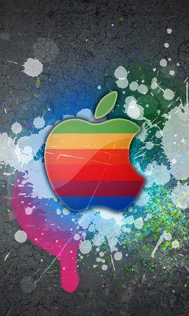 13570 скачать обои Бренды, Арт, Логотипы, Apple - заставки и картинки бесплатно