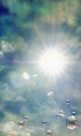 148 télécharger le fond d'écran Abstrait, Sky, Sun, Bubbles - économiseurs d'écran et images gratuitement