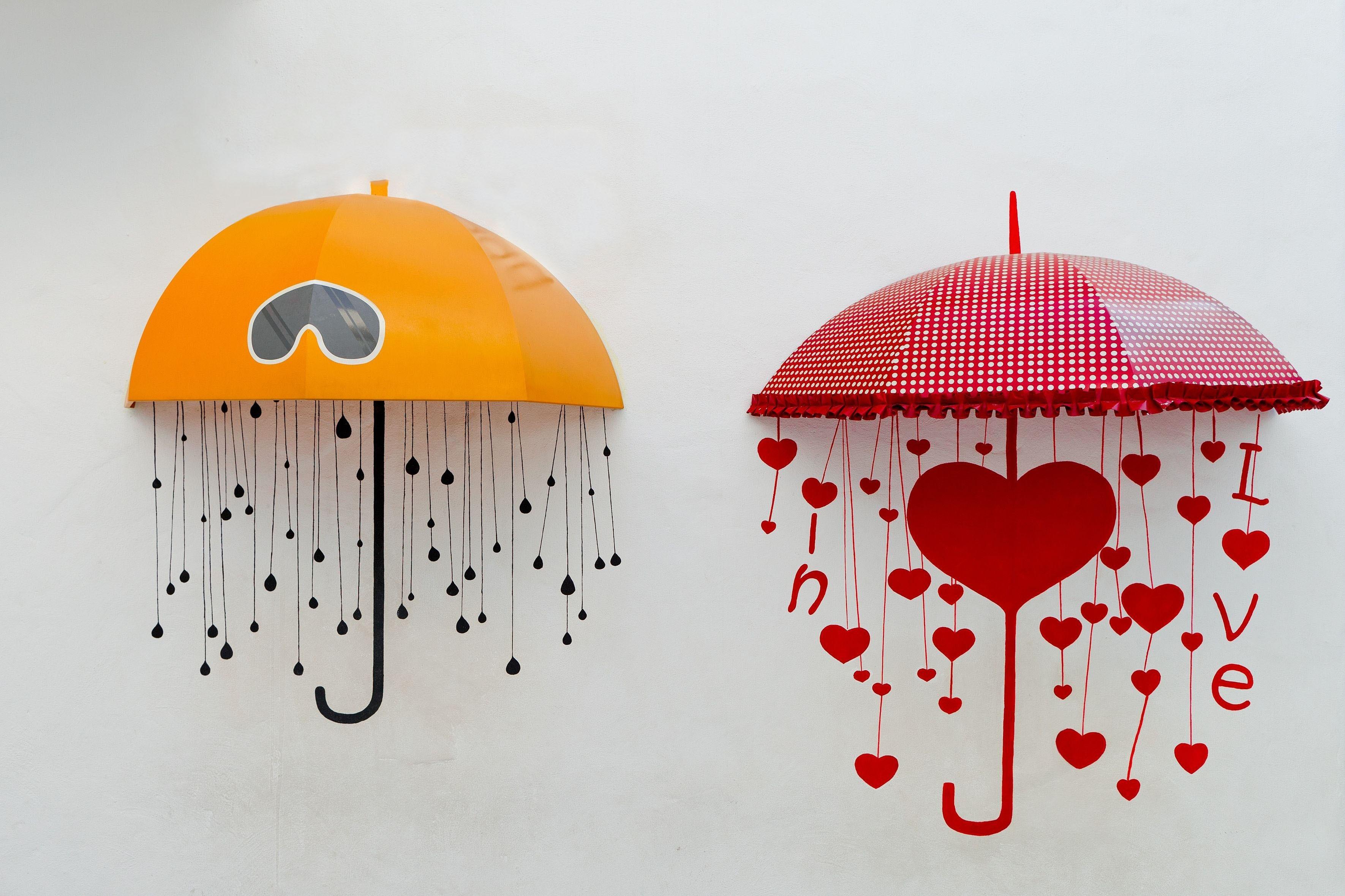 82715壁紙のダウンロードラブ, 傘, 即興, 画像, ドローイング, 心-スクリーンセーバーと写真を無料で