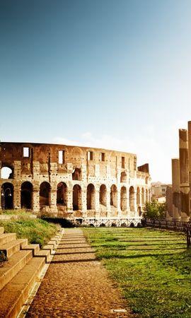 22730 baixar papel de parede Paisagem, Sol, Arquitetura, Coliseu - protetores de tela e imagens gratuitamente