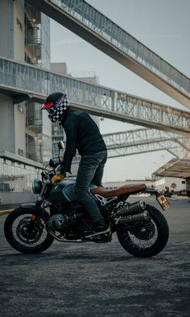 91344 télécharger le fond d'écran Moto, Bmw, Motocycliste, Motocyclette, Casque, Vue De Côté - économiseurs d'écran et images gratuitement