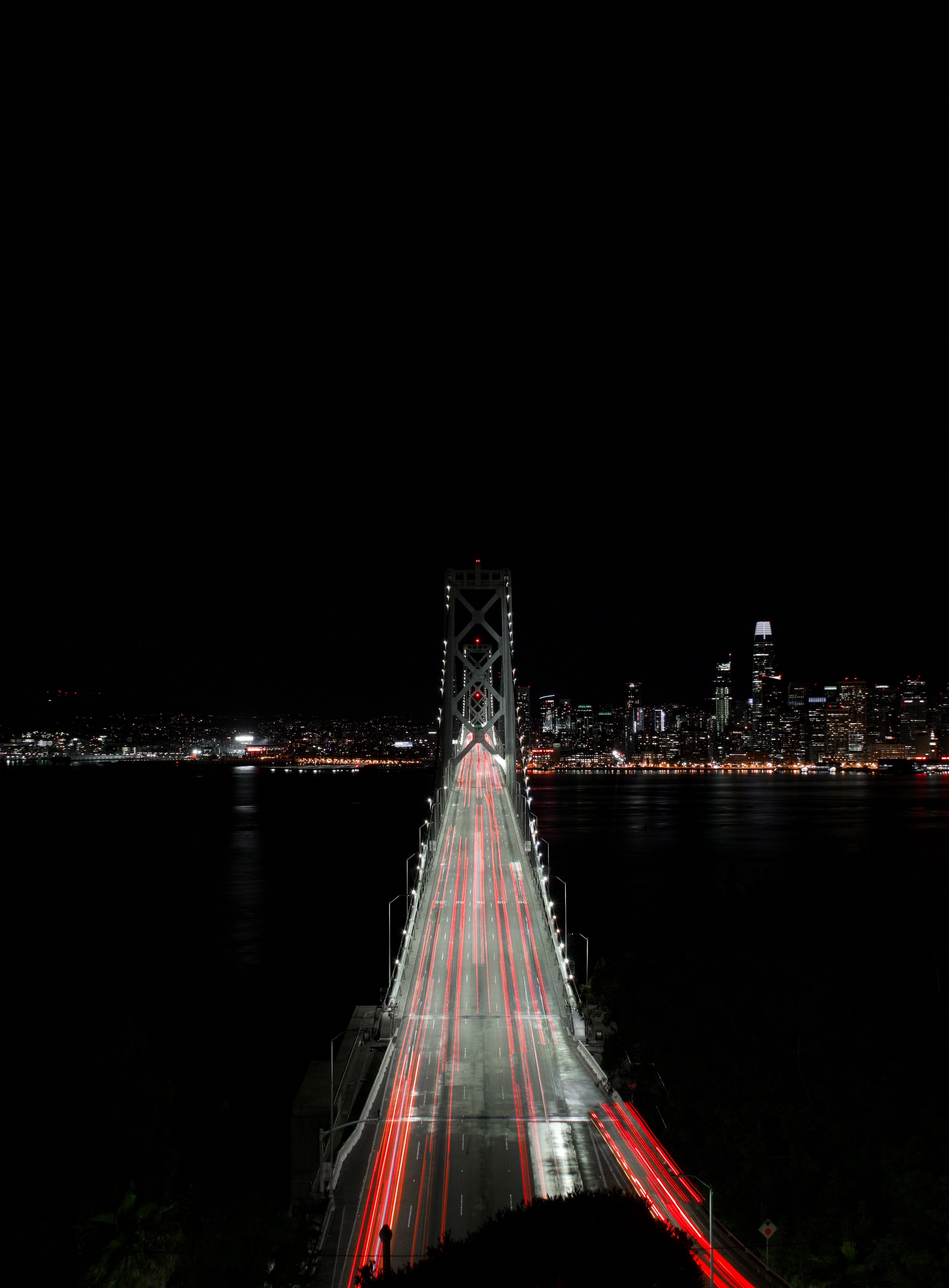 117470 free wallpaper 720x1520 for phone, download images Night, City, Lights, Dark, Bridge 720x1520 for mobile