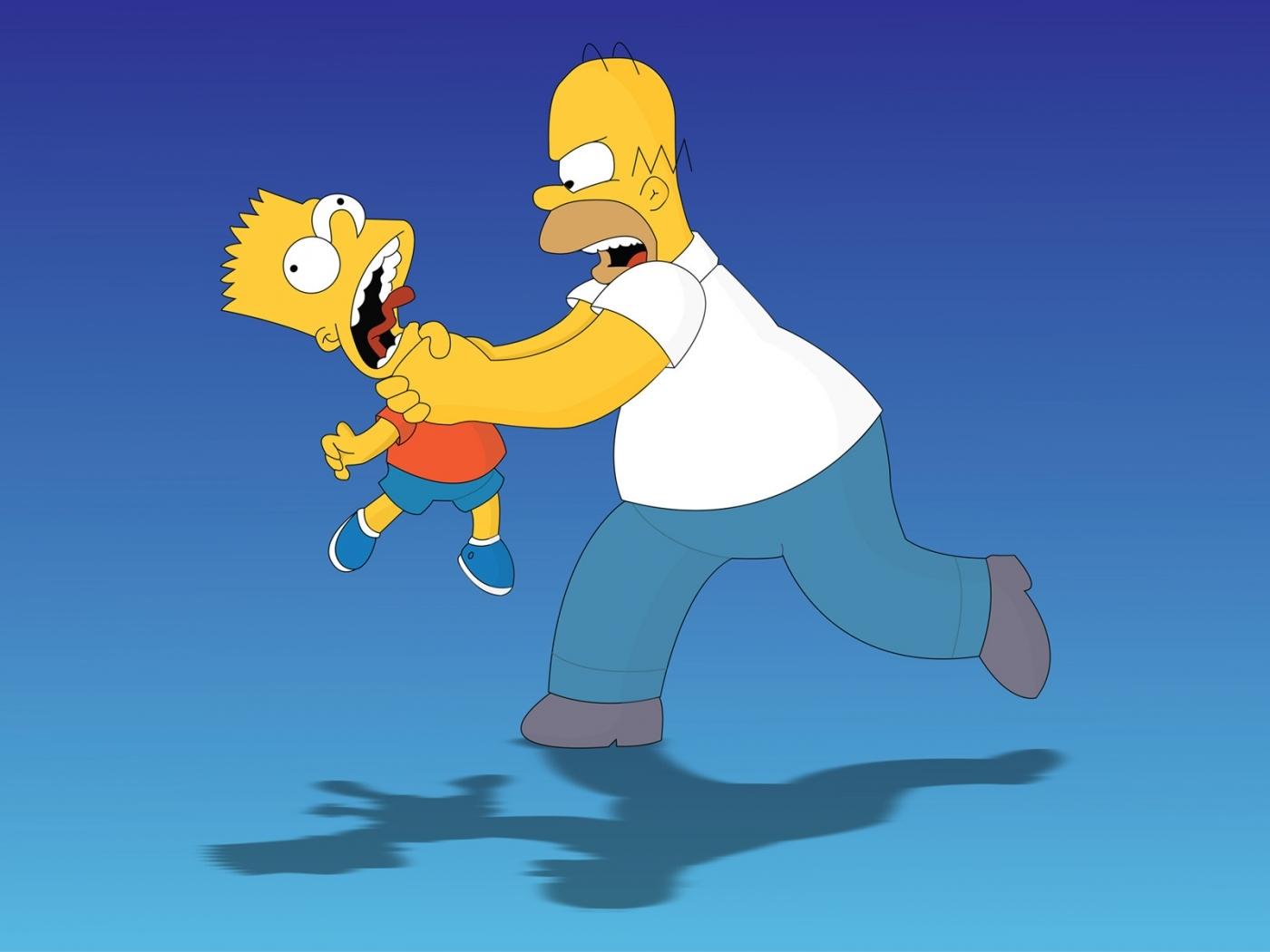 47437 Hintergrundbild herunterladen Cartoon, Hintergrund, Homer Simpson, Die Simpsons - Bildschirmschoner und Bilder kostenlos