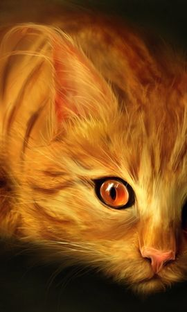 16204 download wallpaper Animals, Cats, Art, Pictures screensavers and pictures for free