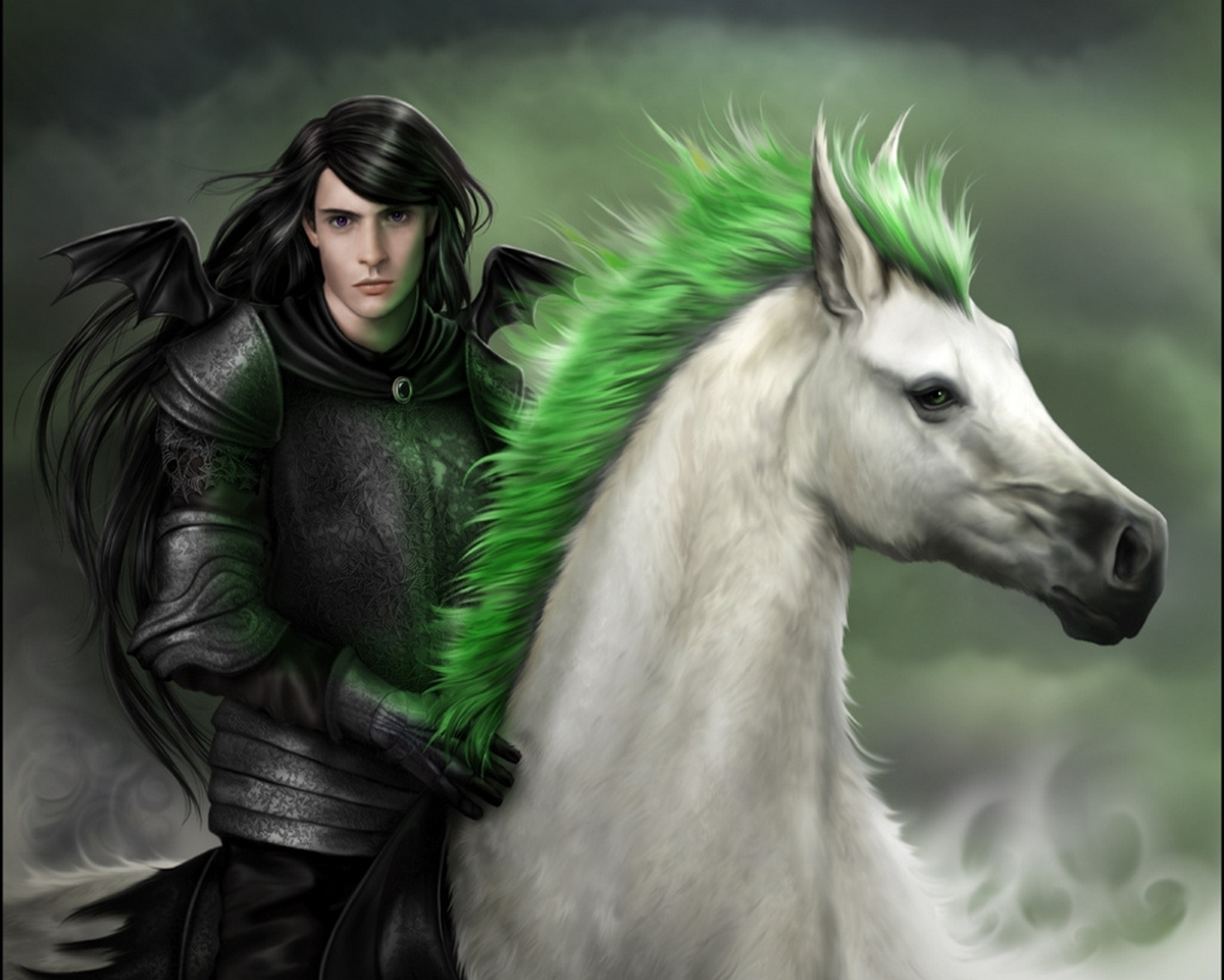 1505 download wallpaper People, Fantasy, Art, Horses, Men screensavers and pictures for free
