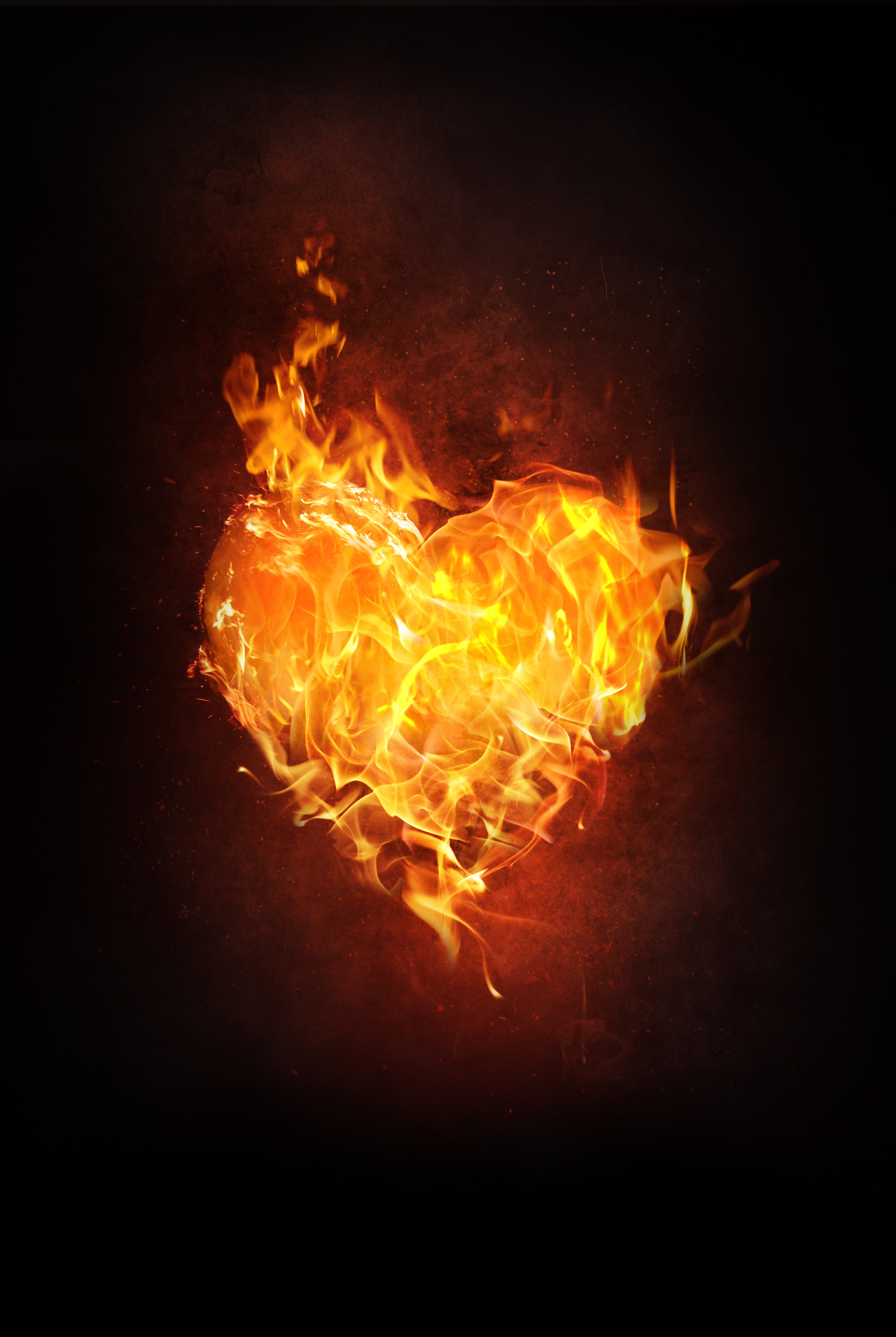78653 download wallpaper Fire, Love, Dark, Flame, Heart screensavers and pictures for free
