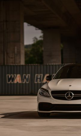 127513 télécharger le fond d'écran Voitures, Mercedes-Amg C 63, Mercedes, Voiture, Vue De Face - économiseurs d'écran et images gratuitement