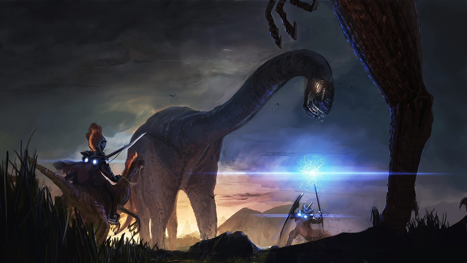 24073 download wallpaper Fantasy, Dinosaurs screensavers and pictures for free