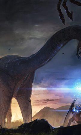 24073 скачать обои Фэнтези, Динозавры - заставки и картинки бесплатно