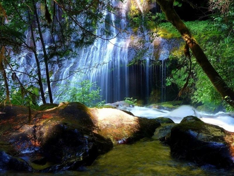 30490 Hintergrundbild herunterladen Wasserfälle, Landschaft, Flüsse - Bildschirmschoner und Bilder kostenlos