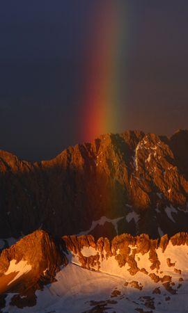54138 télécharger le fond d'écran Nature, Sky, Arc En Ciel, Neige, Montagnes - économiseurs d'écran et images gratuitement