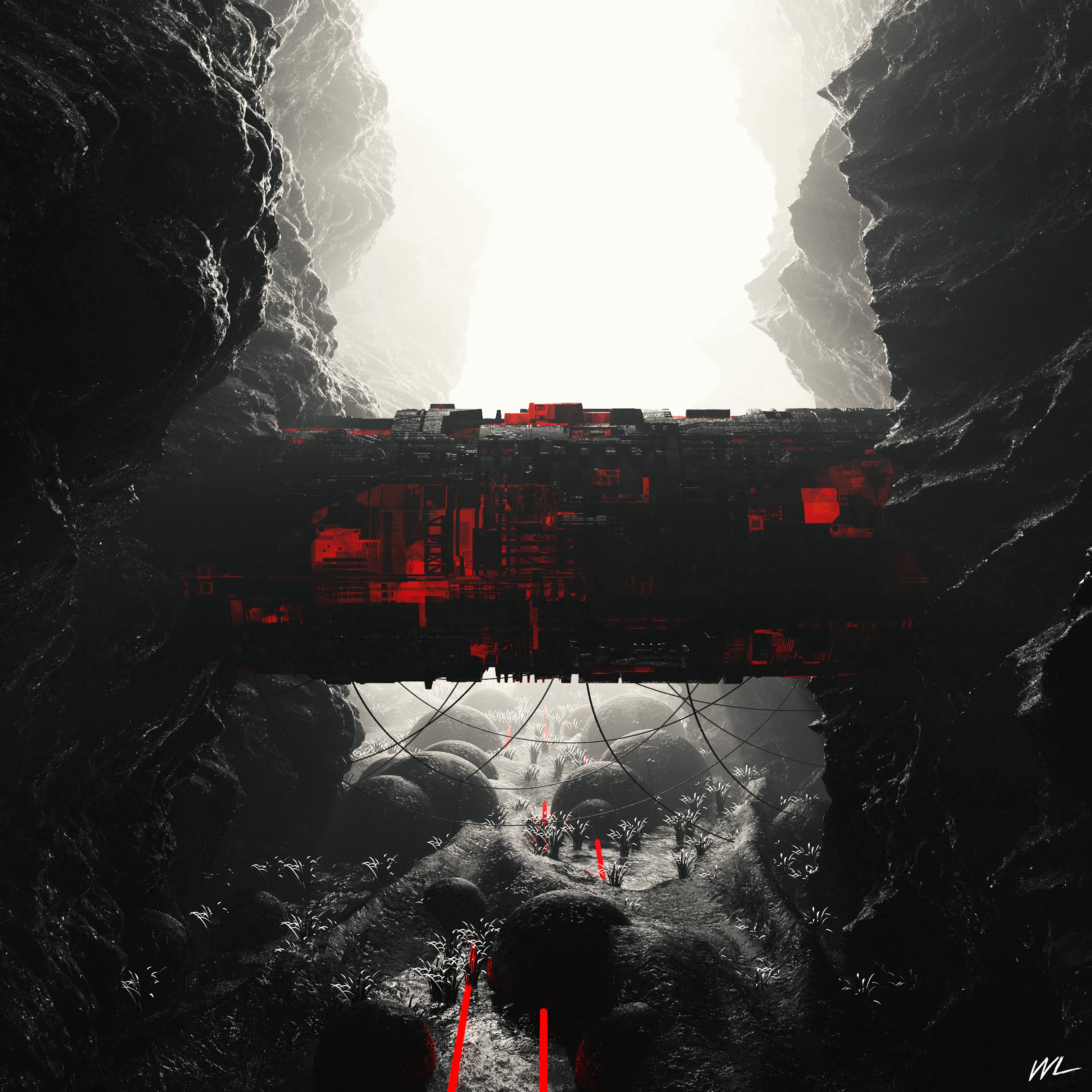 88010 Screensavers and Wallpapers Sci-Fi for phone. Download Building, Rocks, Miscellanea, Miscellaneous, Cave, Sci-Fi, Tunnel pictures for free