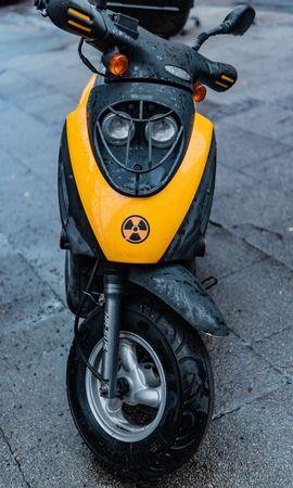 156016 télécharger le fond d'écran Moto, Vélomoteur, Mobylette, Scooter, Trottinette, Mouiller, Mouillé, Vue De Face - économiseurs d'écran et images gratuitement