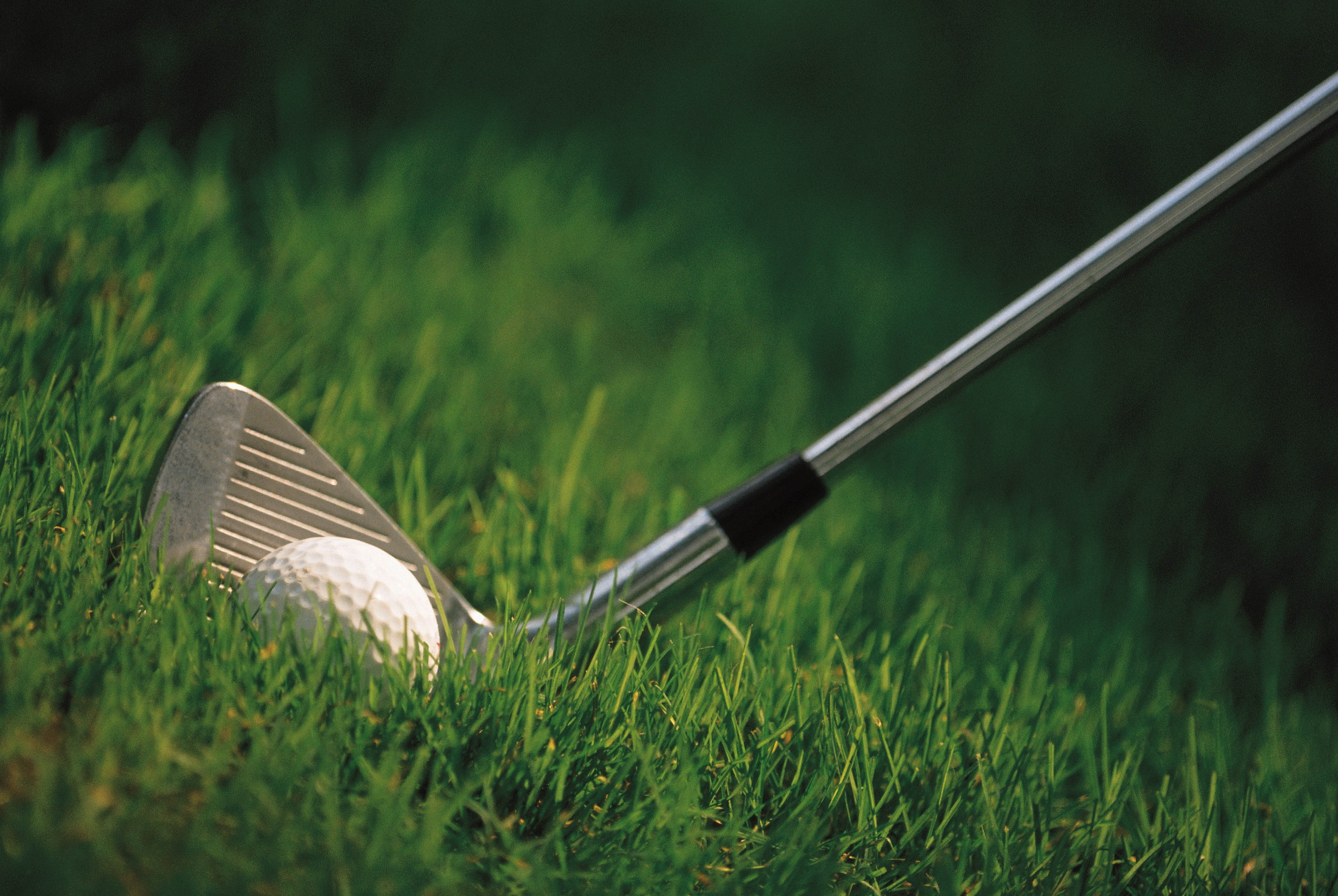 119744 download wallpaper Sports, Grass, Golf, Ball, Hockey Stick screensavers and pictures for free