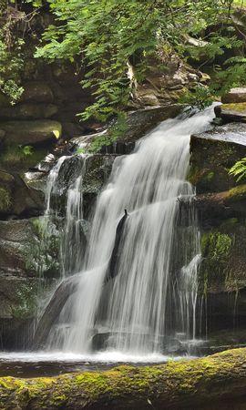 155641 скачать обои Природа, Водопад, Скалы, Растения, Пейзаж - заставки и картинки бесплатно