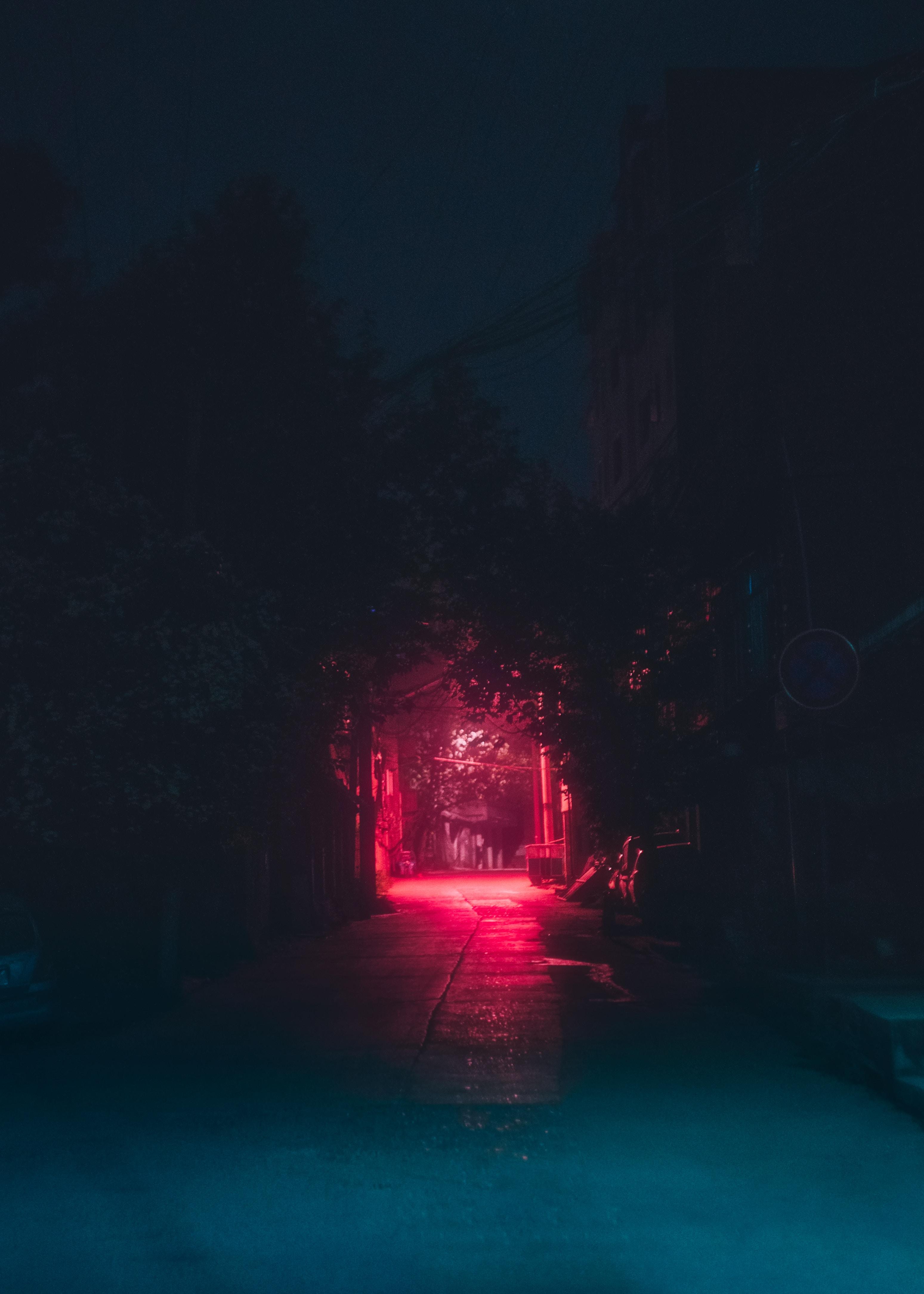 115221 download wallpaper Dark, Night, Illumination, Lighting, Urban, Lane screensavers and pictures for free