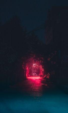 115221 baixe gratuitamente papéis de parede de Vermelho para seu telefone, Escuro, Faixa, Pista, Noite, Urbano, Iluminação imagens e protetores de tela de Vermelho para seu celular