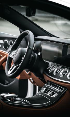 64880 télécharger le fond d'écran Voitures, Mercedes E200, Mercedes, Volant, Gouvernail, Salon, Voiture - économiseurs d'écran et images gratuitement