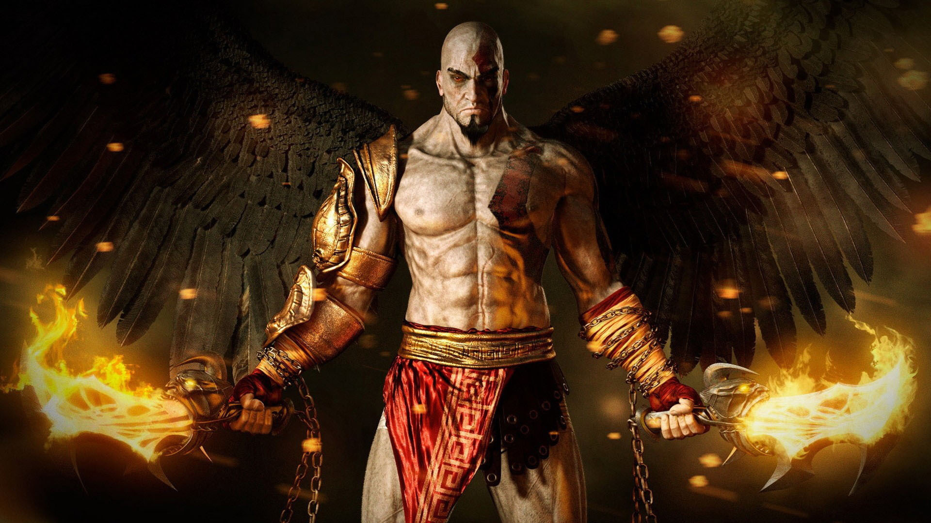 16599 download wallpaper Games, God Of War, Men, Angels screensavers and pictures for free