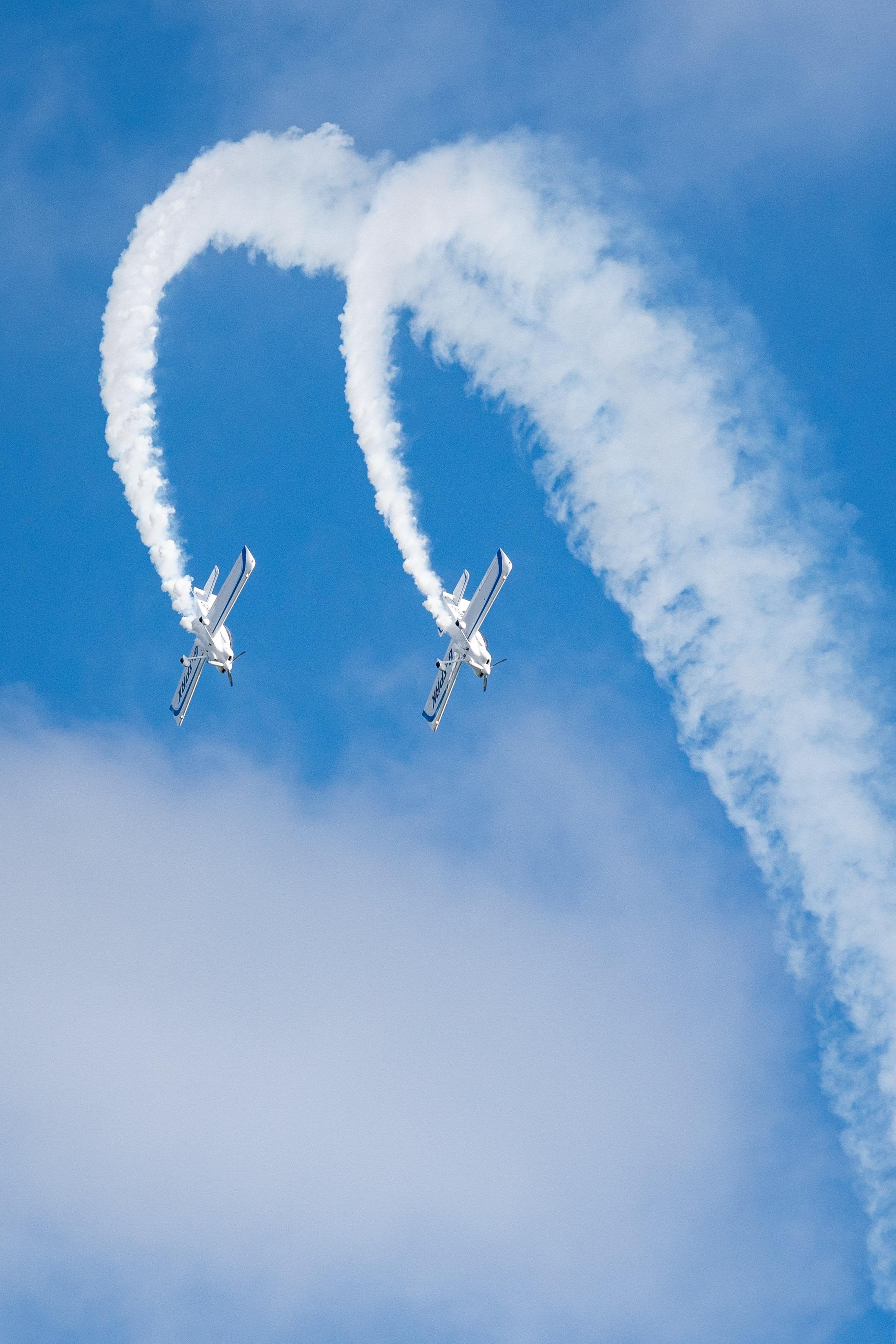 151560 скачать обои Разное, Небо, Высший Пилотаж, Авиашоу, Дым, Самолеты - заставки и картинки бесплатно