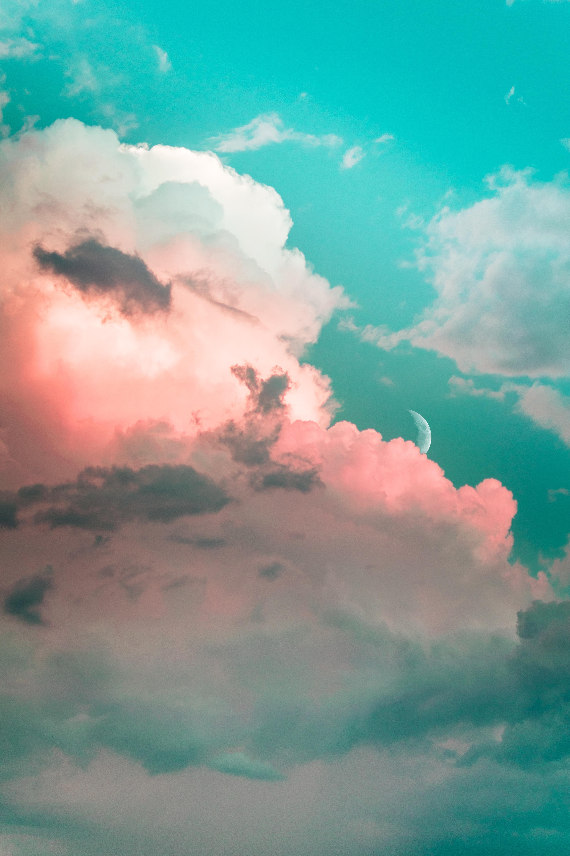 102873 Protetores de tela e papéis de parede Lua em seu telefone. Baixe Lua, Natureza, Céu, Nuvens, Luz, Cor Clara, Poroso fotos gratuitamente
