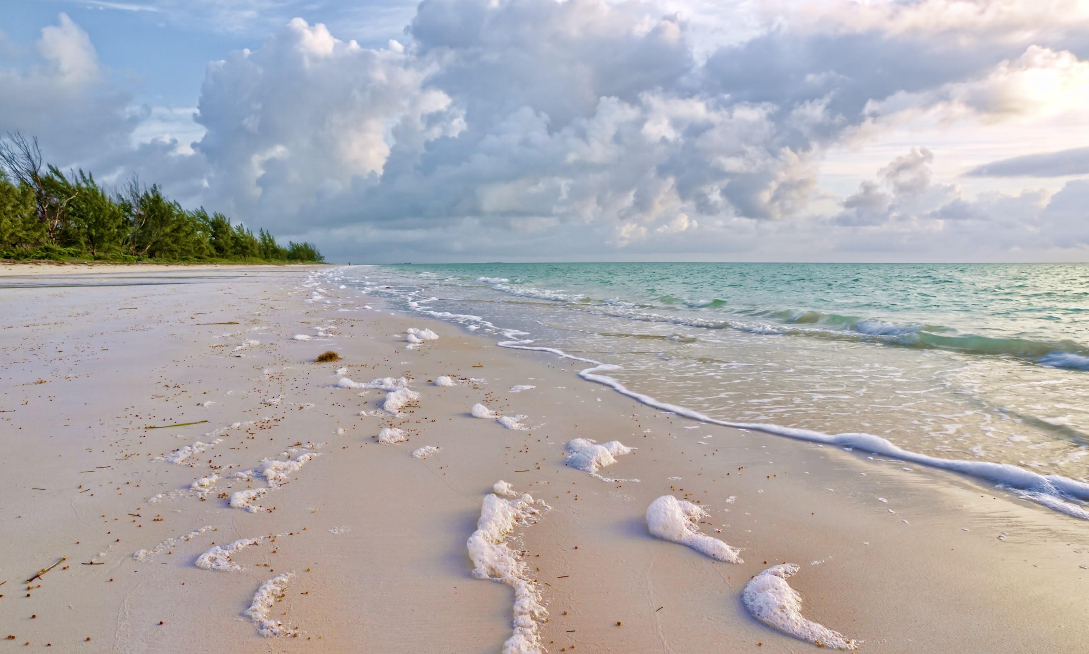 84856 скачать обои Природа, Пена, Море, Песок, Мокрый, Облака, Прибой, Шепот - заставки и картинки бесплатно