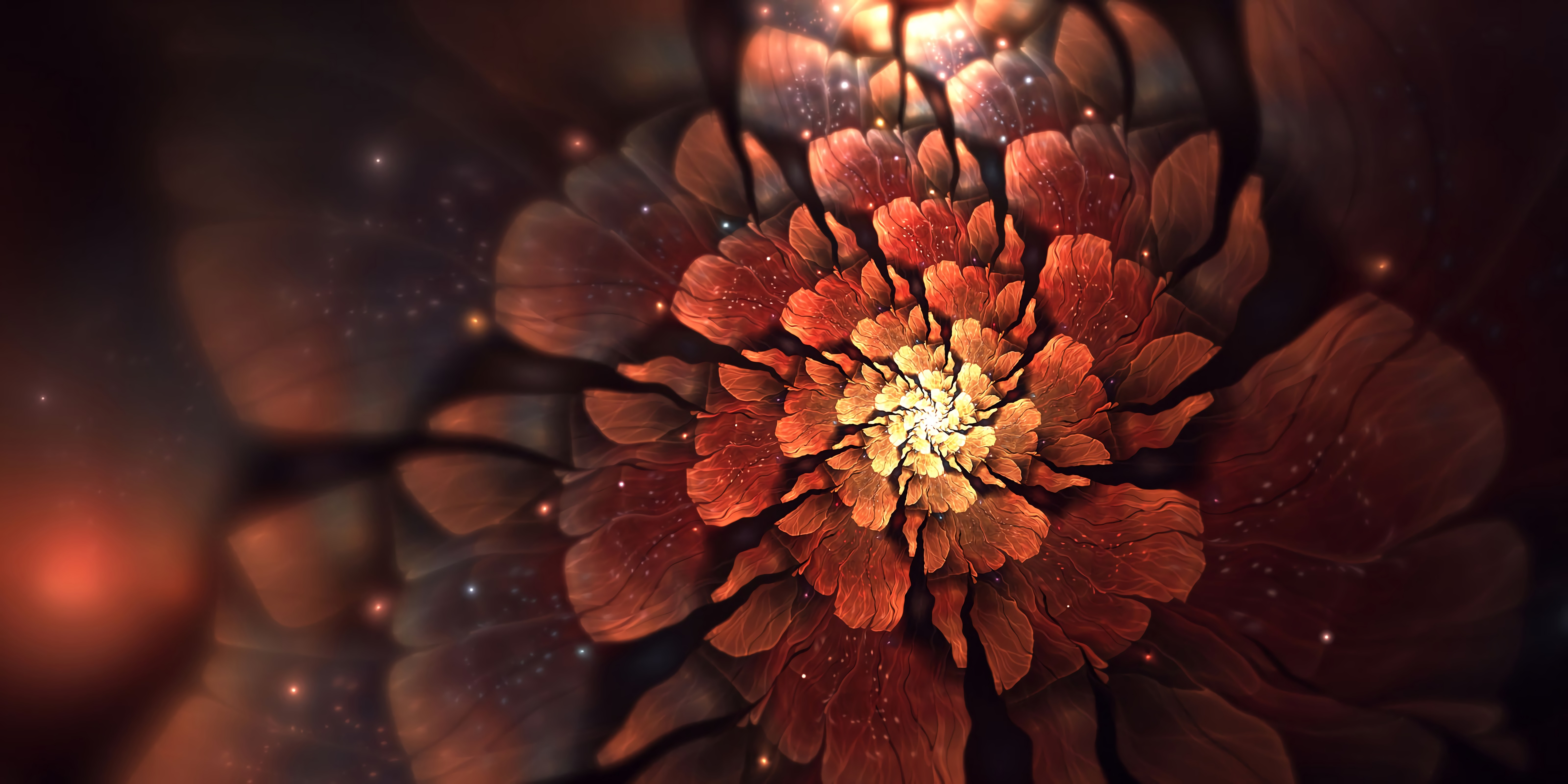 135142 download wallpaper Abstract, Fractal, Flower, Glow, Glare screensavers and pictures for free