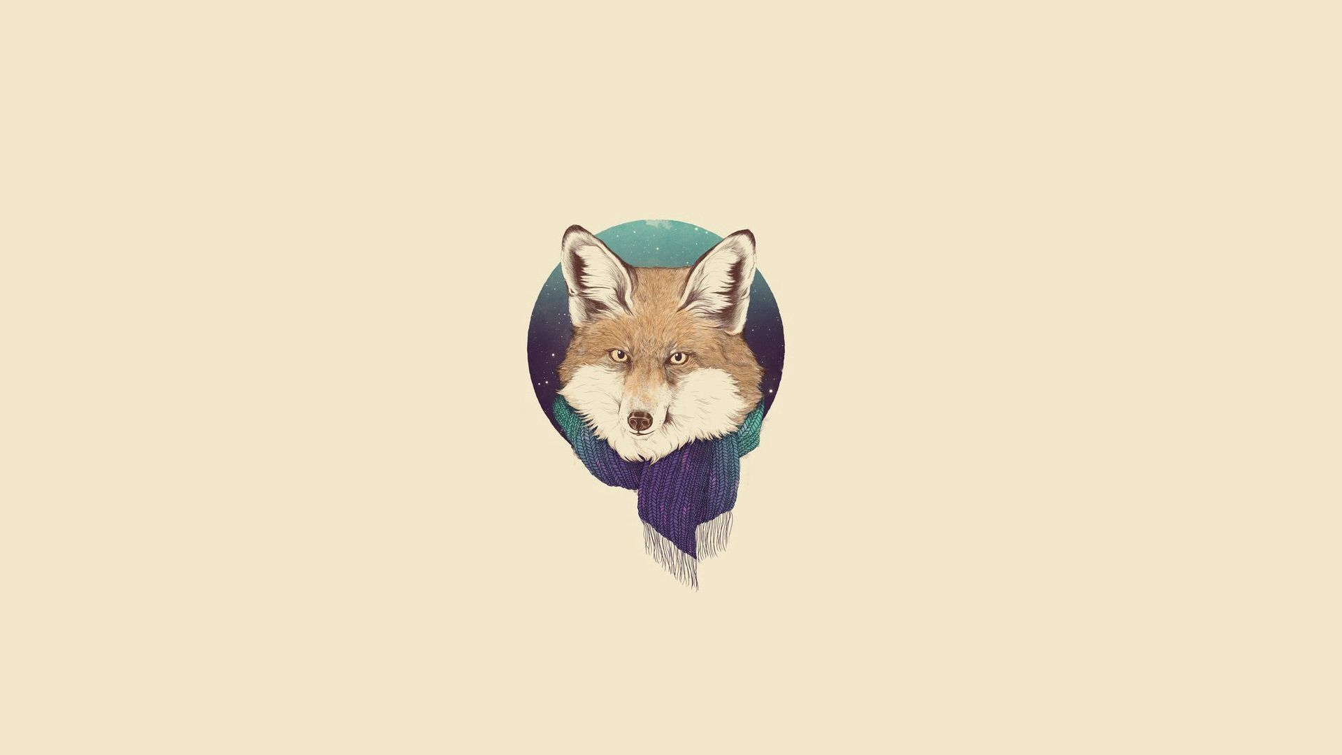 98225 Screensavers and Wallpapers Scarf for phone. Download Vector, Art, Fox, Minimalism, Scarf pictures for free