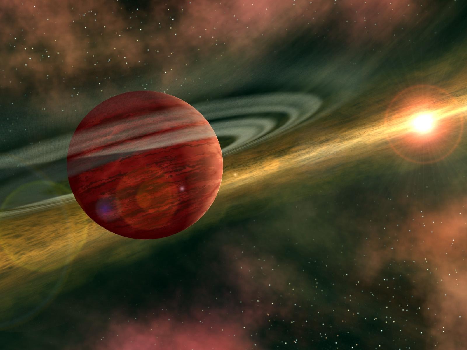 Скачать картинку Абстракция, Космос, Планеты в телефон бесплатно.
