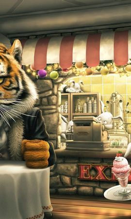 94880 免費下載壁紙 艺术, 愤怒的老虎卡通, Angry Tiger Cartoon, 老虎, 虎, 野兔, 扎因人, 咖啡店, 咖啡厅, 食物 屏保和圖片
