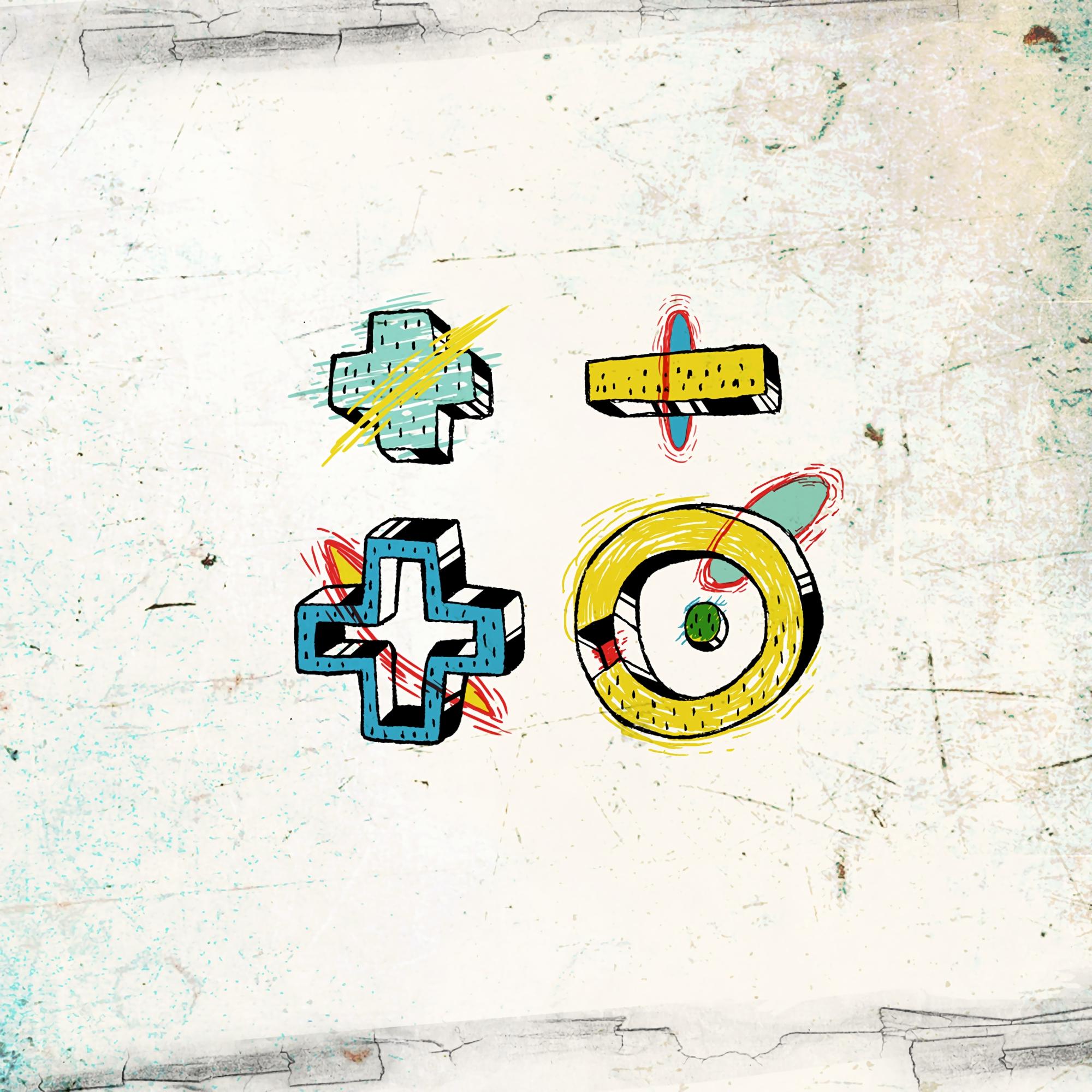 61892 скачать обои Арт, Знаки, Разноцветный, Стена - заставки и картинки бесплатно