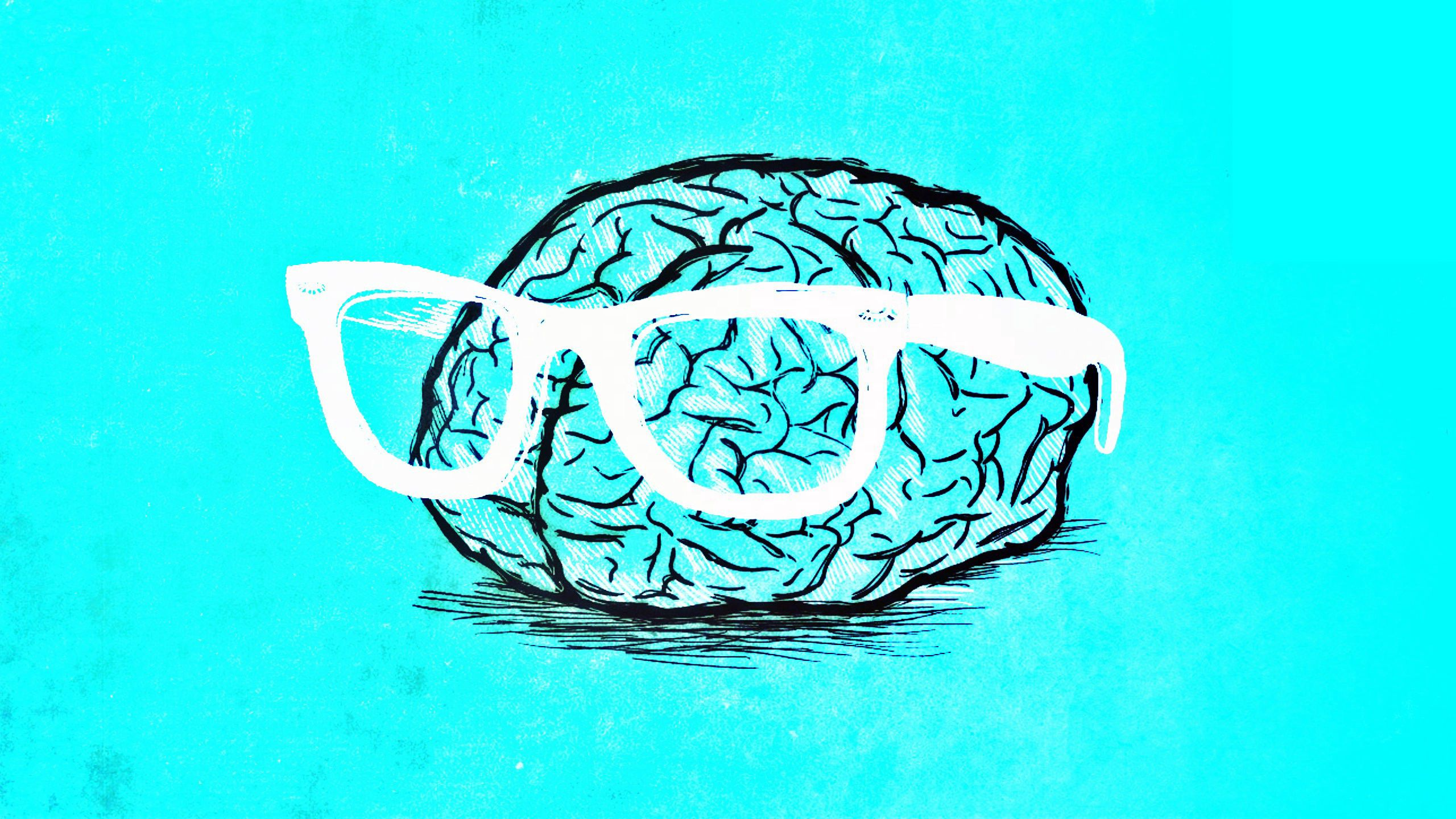 146272 download wallpaper Art, Vector, Glasses, Spectacles, Brain, Brains screensavers and pictures for free