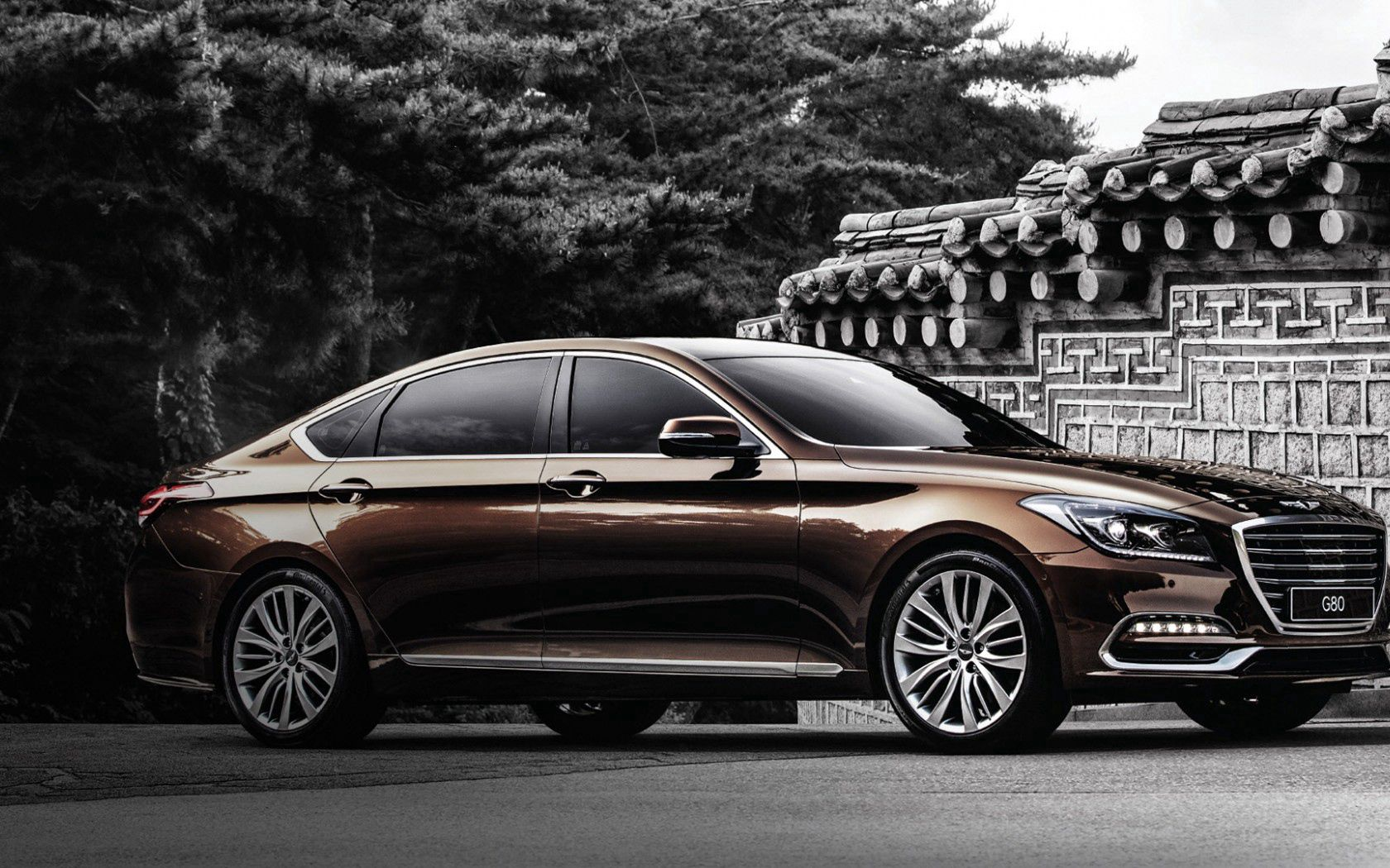 150038 download wallpaper Hyundai, Cars, Side View, Genesis screensavers and pictures for free