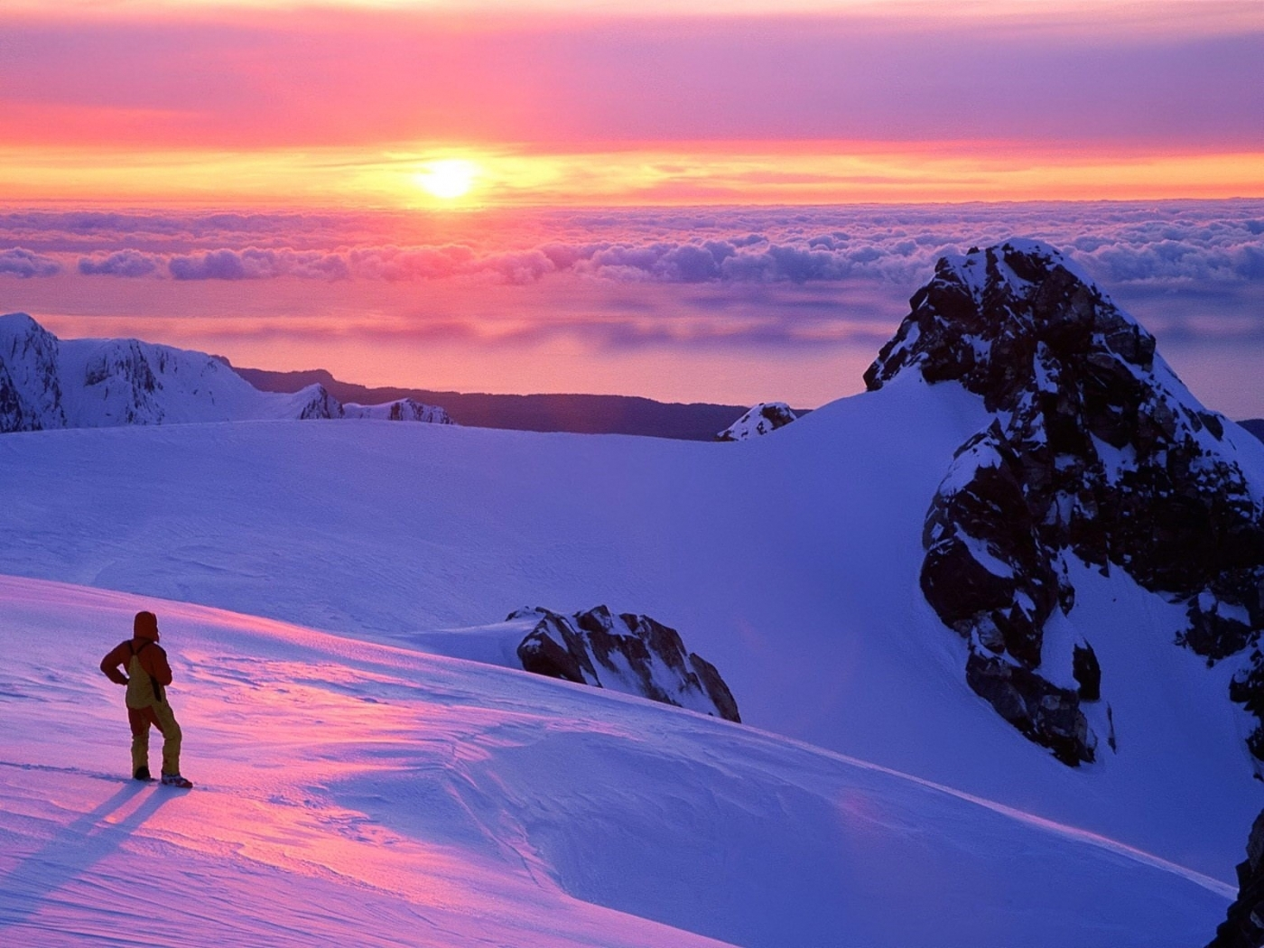 42761 download wallpaper Landscape, Winter, Mountains screensavers and pictures for free